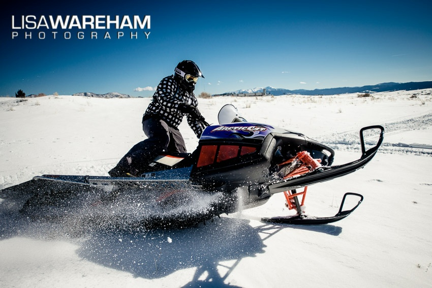 That's right...senior portraits aren't ONLY for summer! Snowmobiling is also perfect!