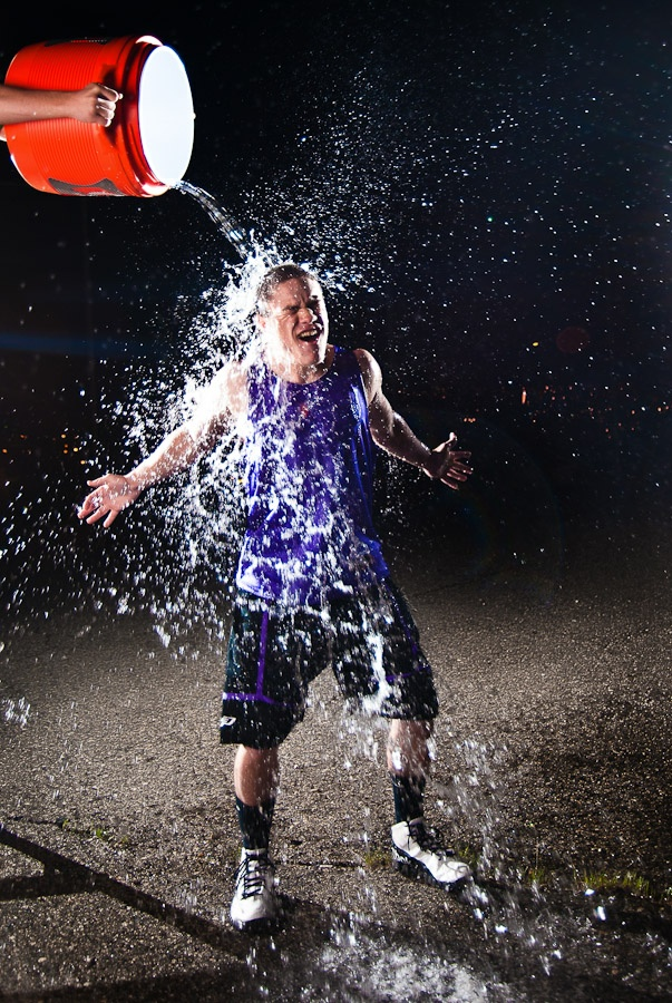 Dumping a jug of cold water on your head during a FREEZING May night? YES YES YES that's pretty darned CRAZY!