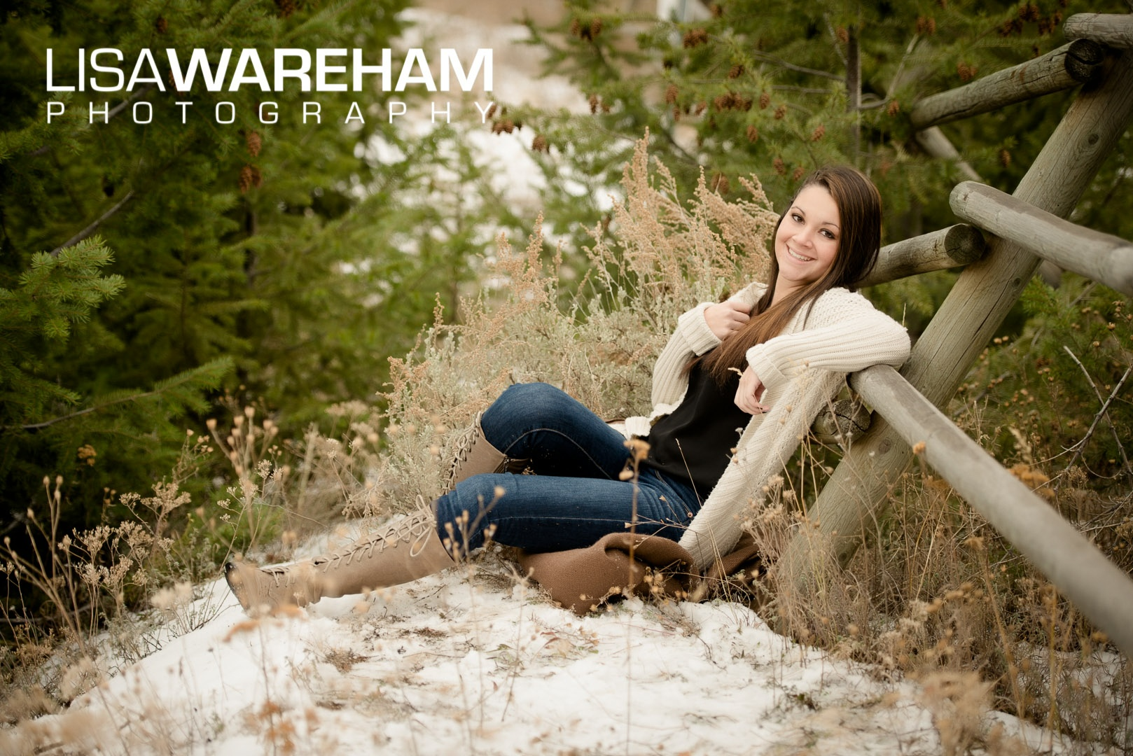 senior pictures in the snow in montana