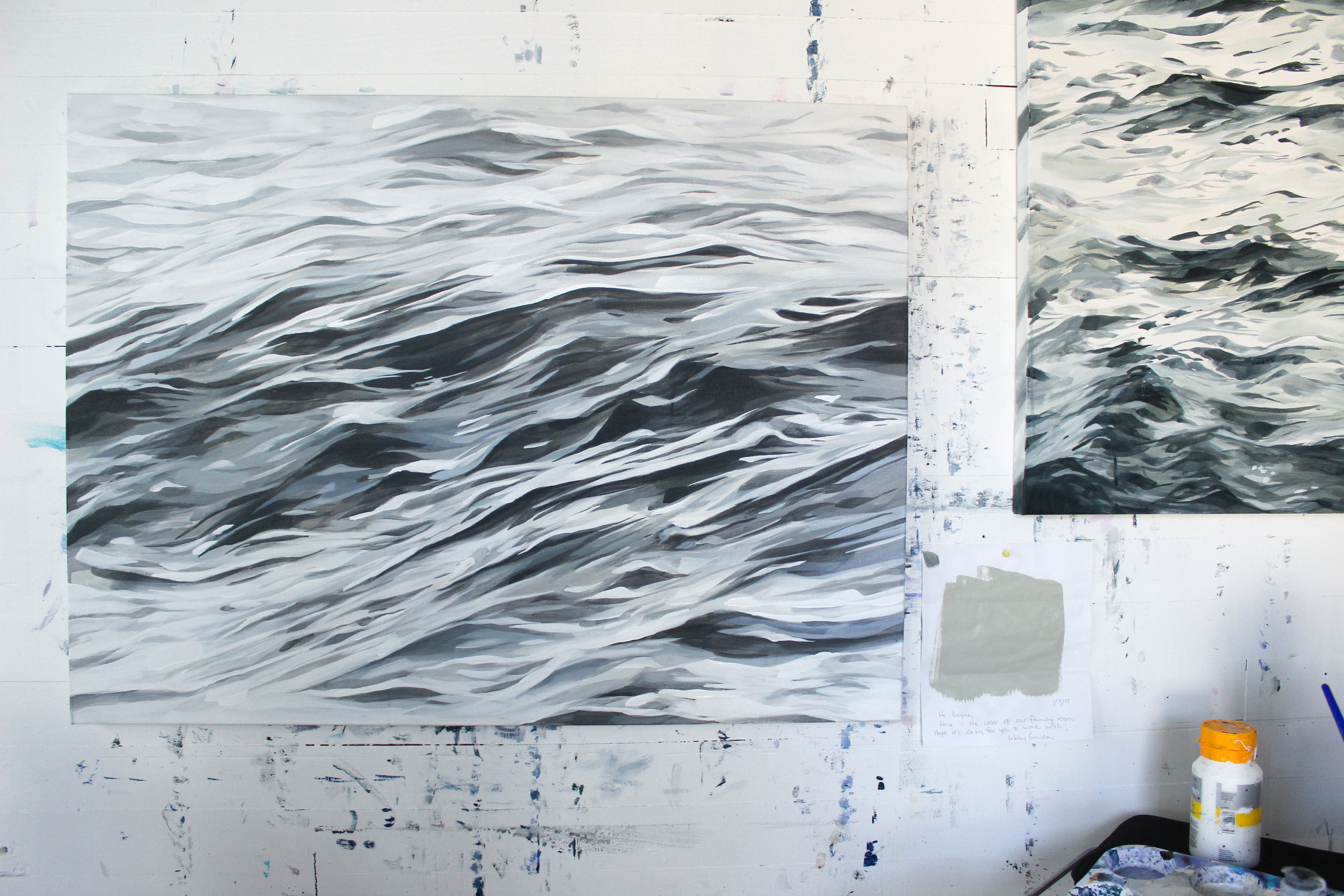 """Water Folds"" 30x40"" acrylic on canvas"