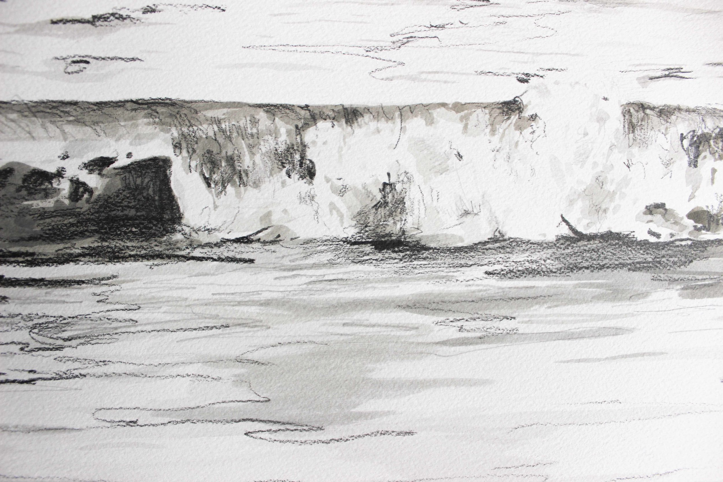 """Detail of the above 18x24"""" drawing"""