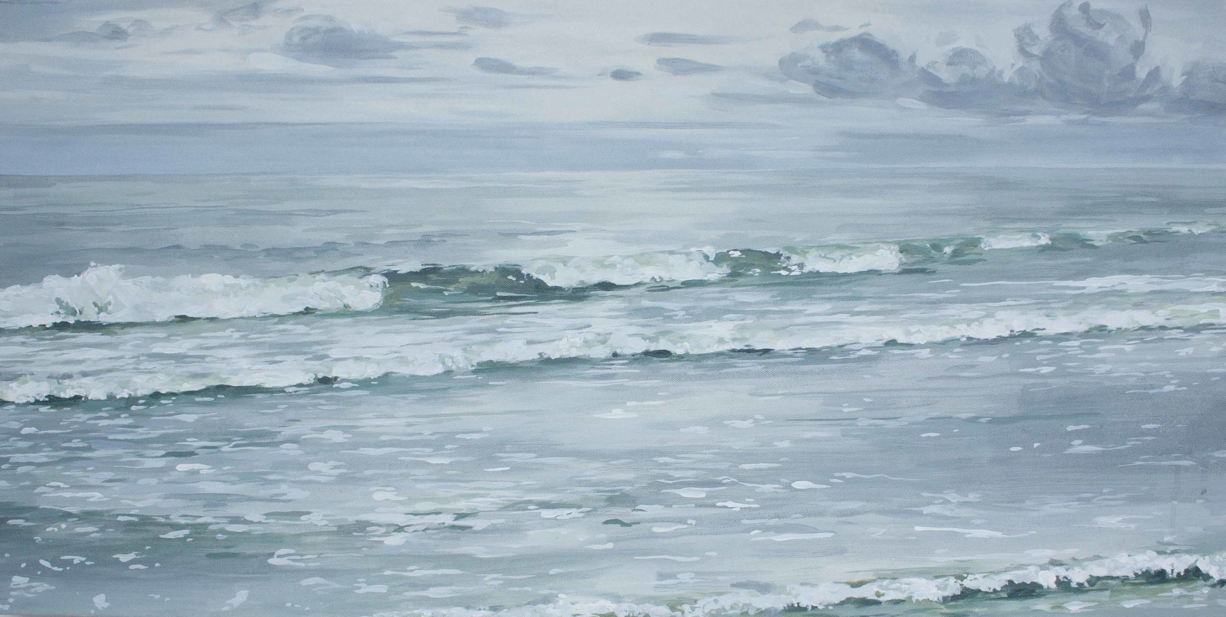 "Sullivan's Island Waves 18x36"""