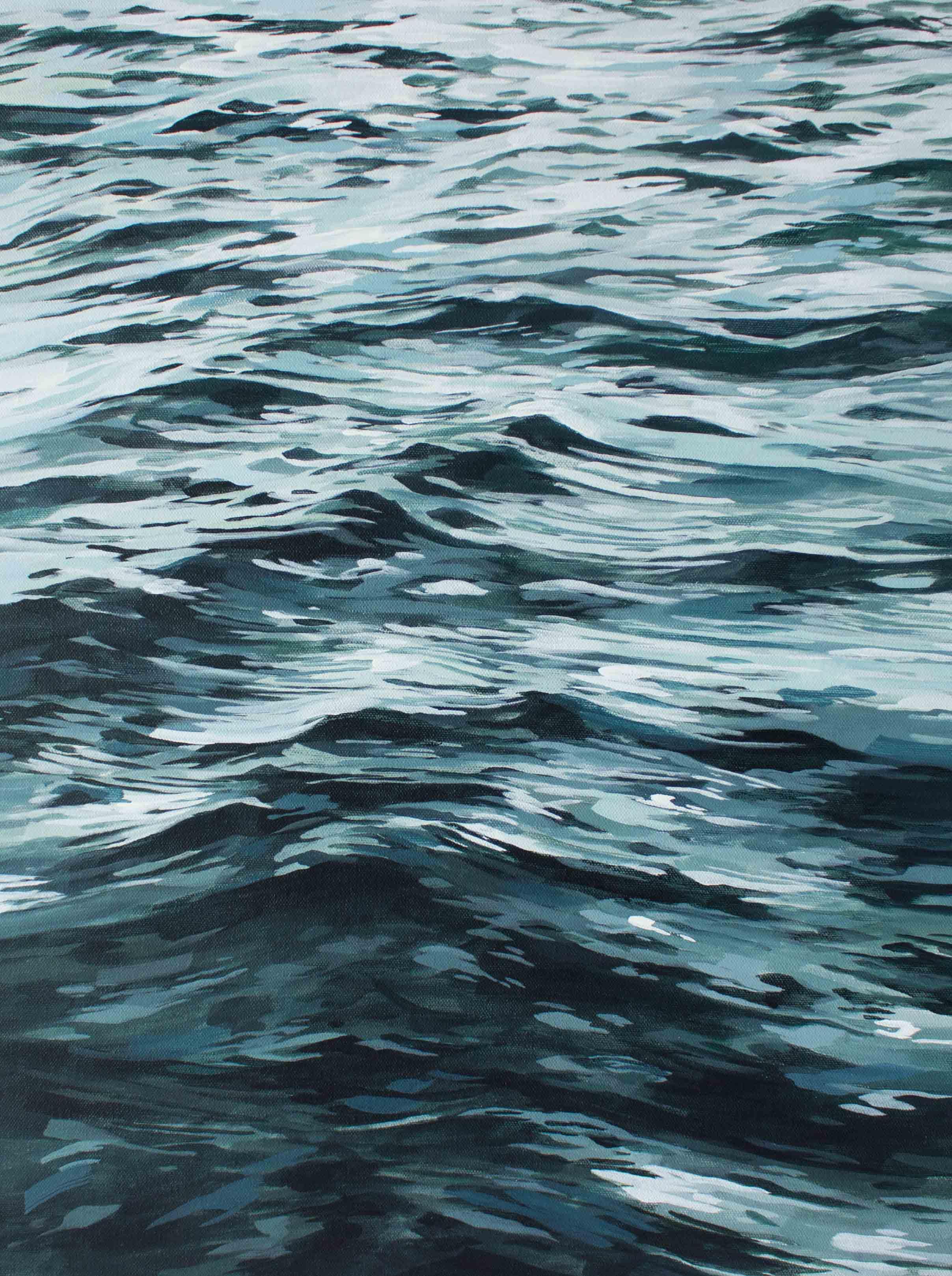 """Seafoam Greens 18x24"""""""