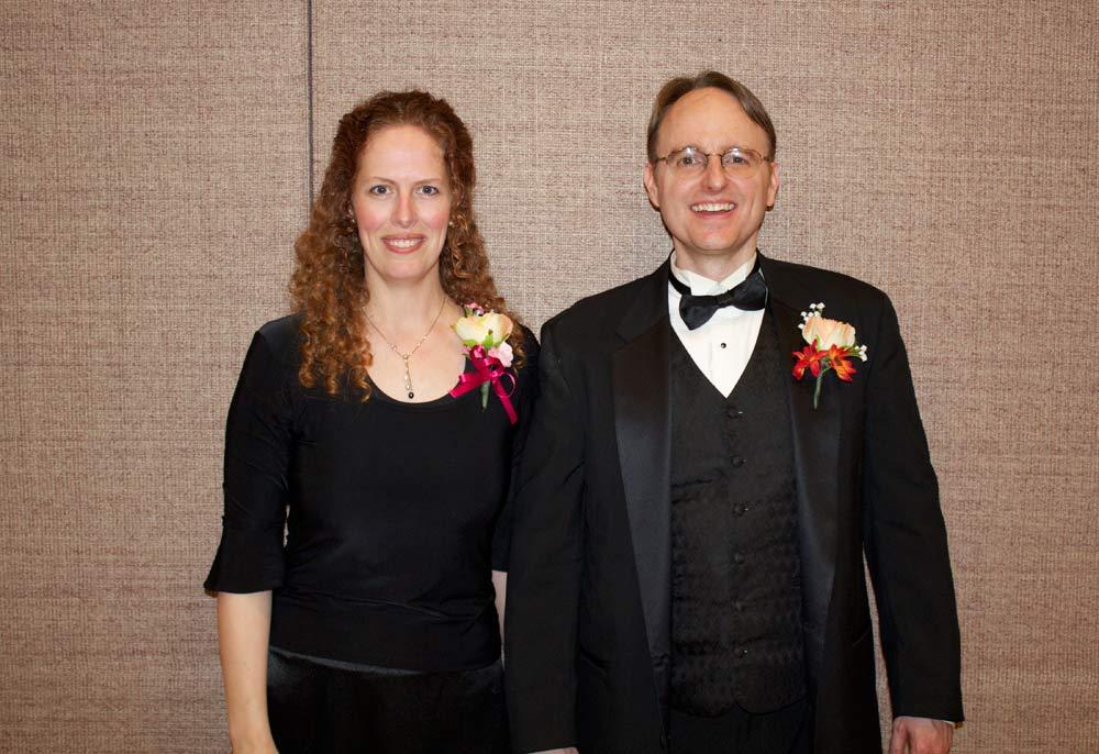 Avanti Orchestra conductor, Michelle Willis with Timpanogos Chorale conductor, Brett Rasmussen.