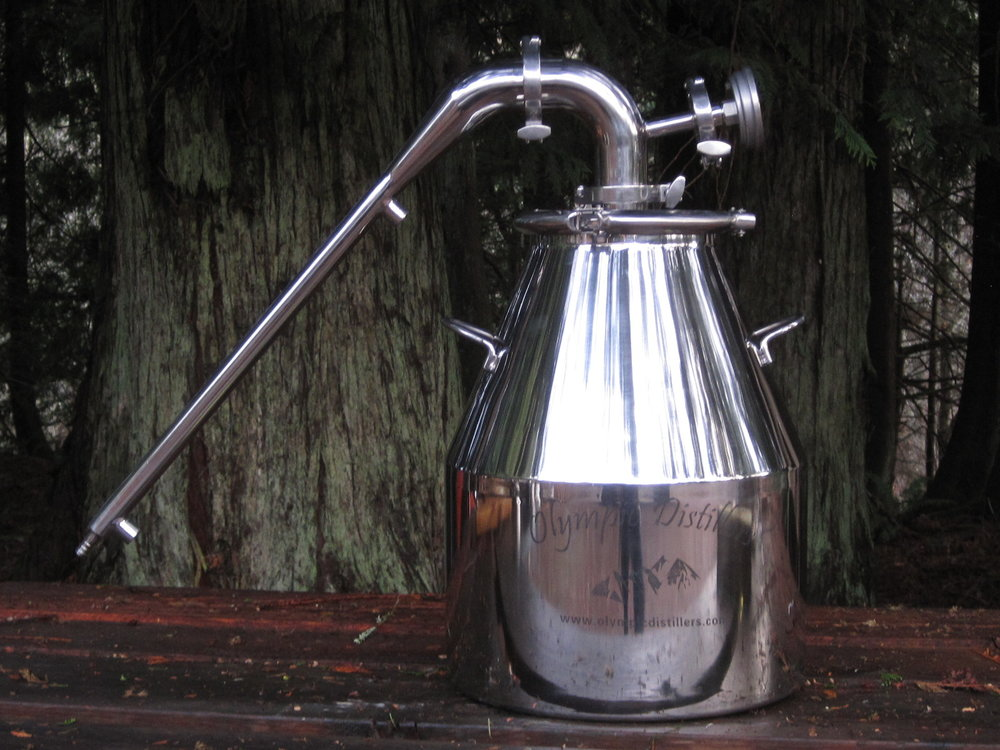 8 Gallon Stainless Steel Pot Still 2 Gas Heat Moonshine Stills Distillery Equipment Still