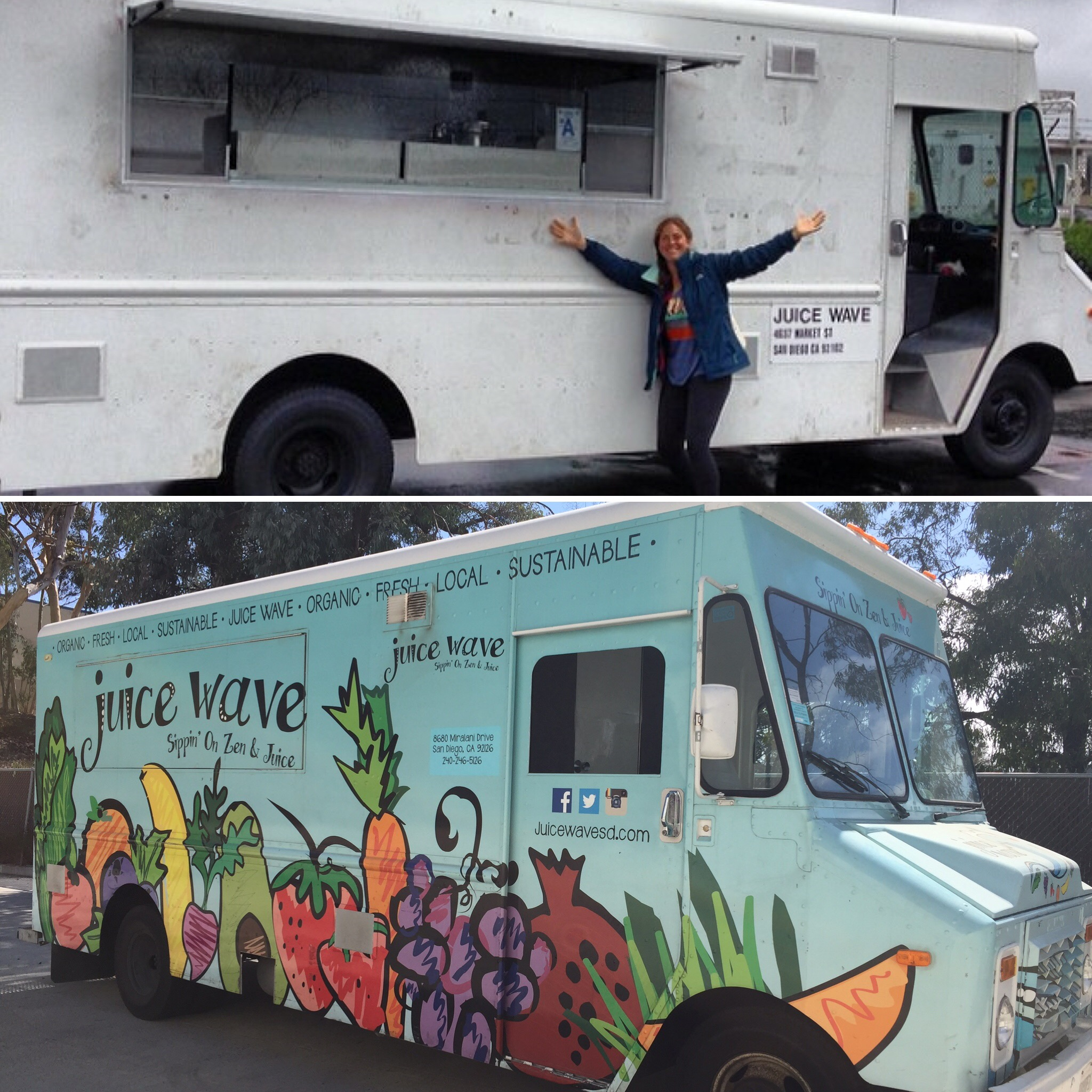 The Beginning… - Juice Wave debuted in March 2014 at the North Park Farmer's Market.