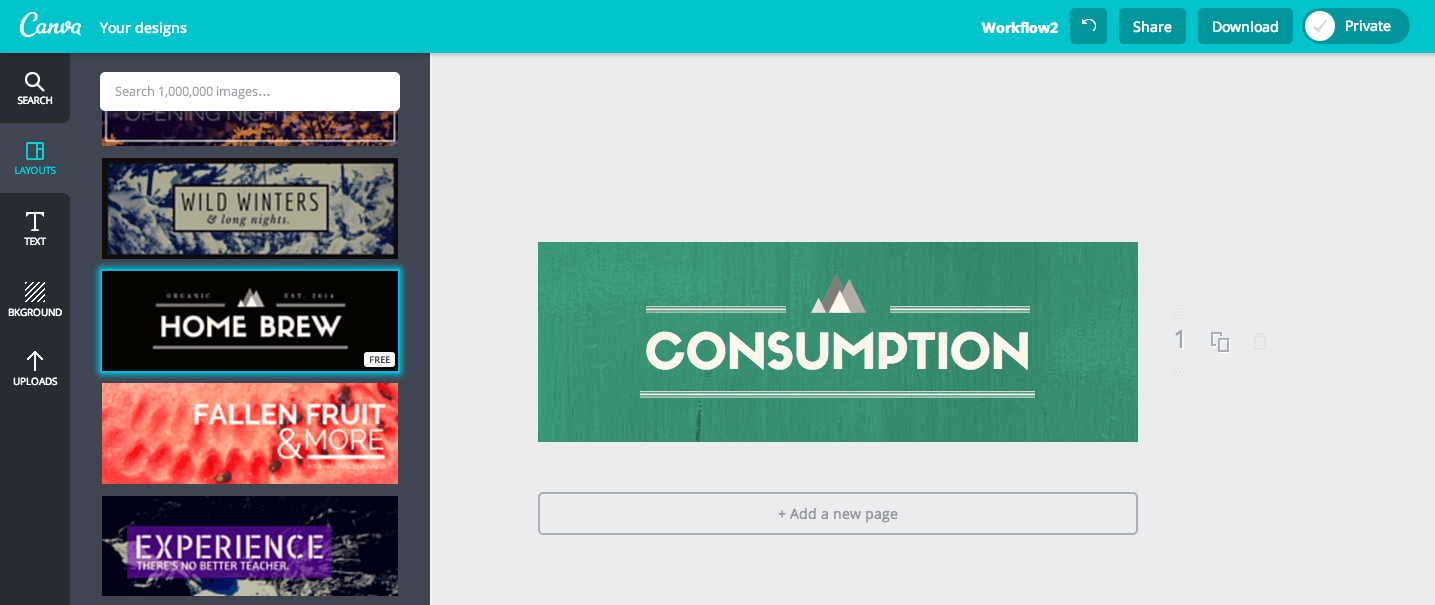 (A look inside Canva.)