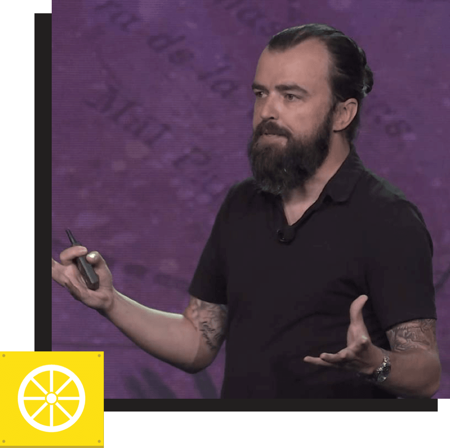 "SCOTT STRATTEN: Hall of Fame Speaker & Man Bun Enthusiast   ""It's this epidemic in business. We want the shortcut. People say you're 'just' missing this. That doesn't exist. There is no 'just.'"""