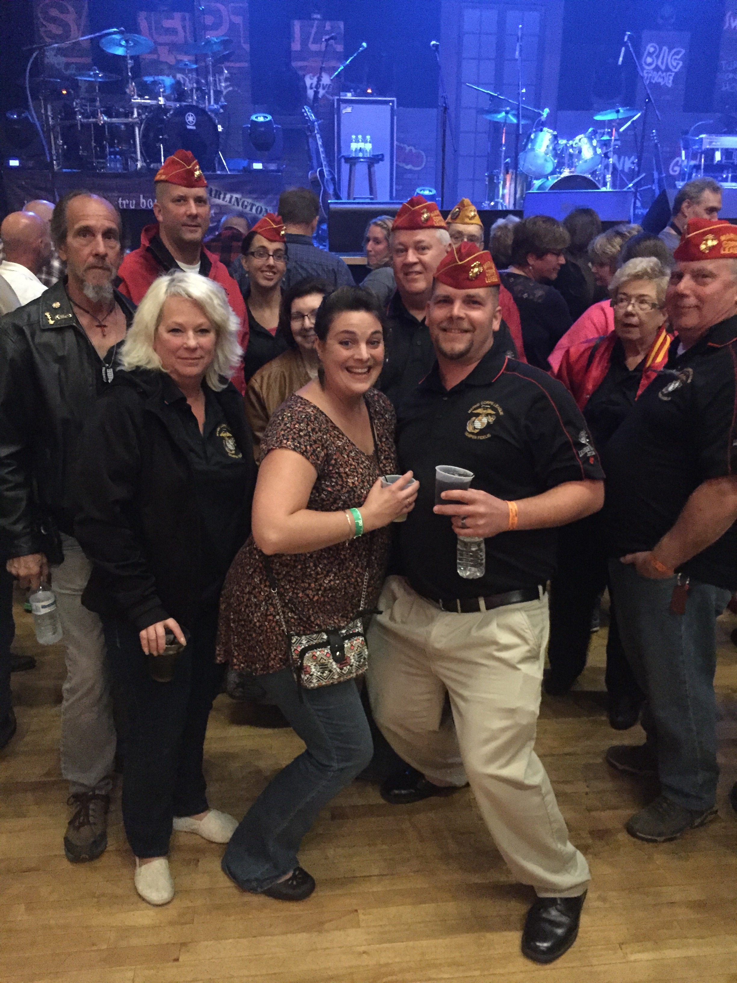 Detachment members and their spouses attended a Trace Adkins concert, in which they presented Mr. Adkins with a detachment polo shirt.