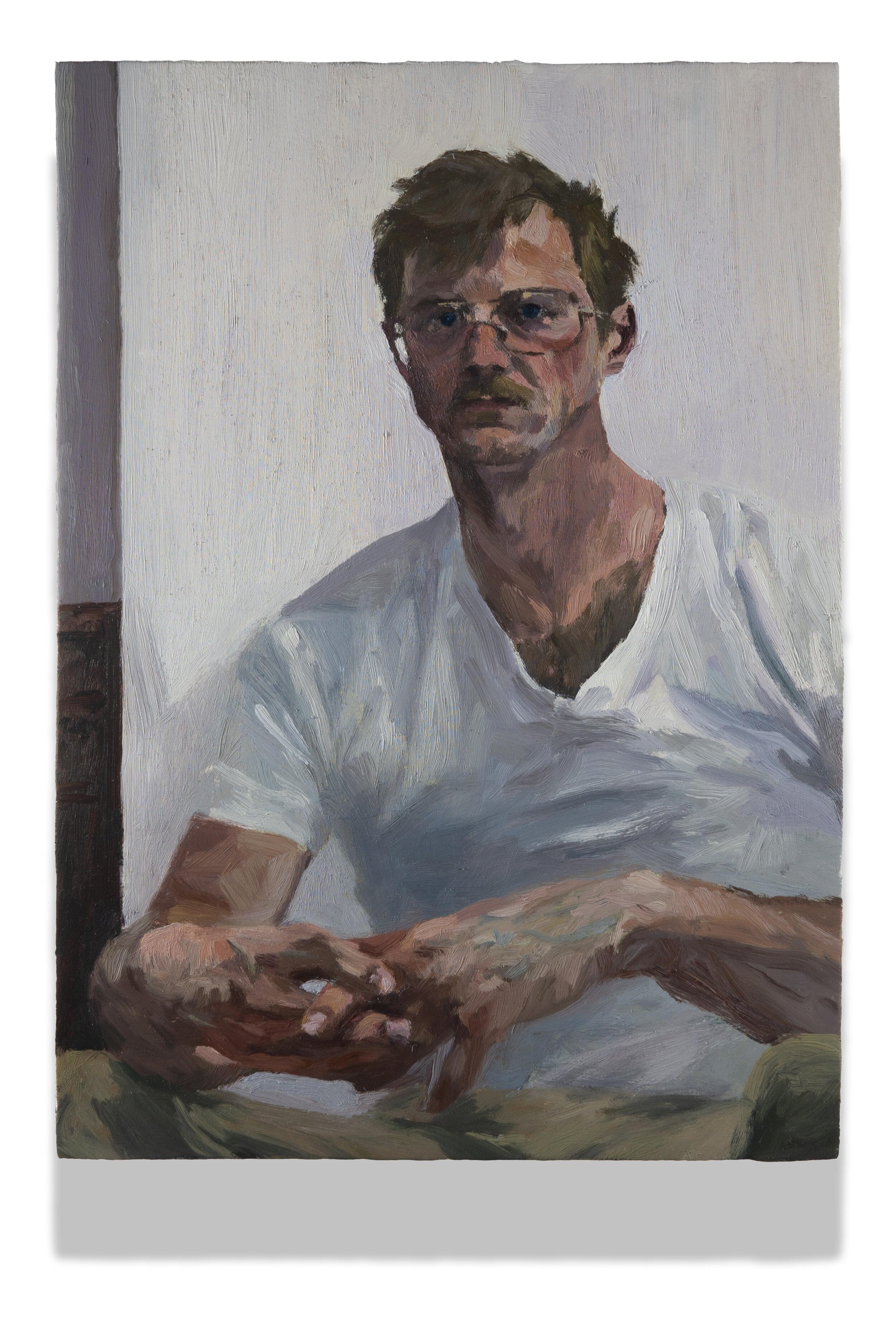 Self Portrait with Interlocked Hands