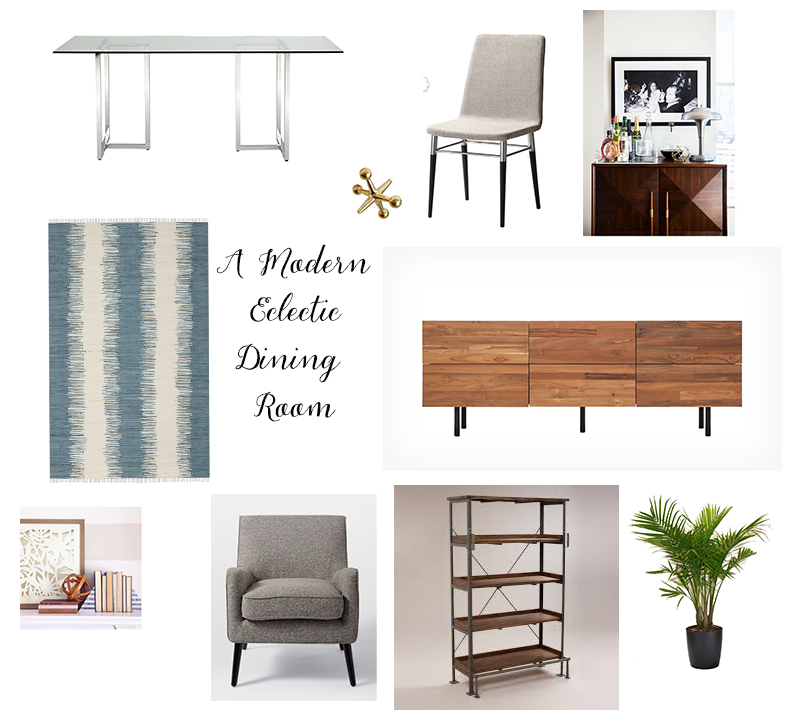 Table  ($449)/ Dining Chair  ($119)/ Rug  ($150)/ Buffet  ($1,099)