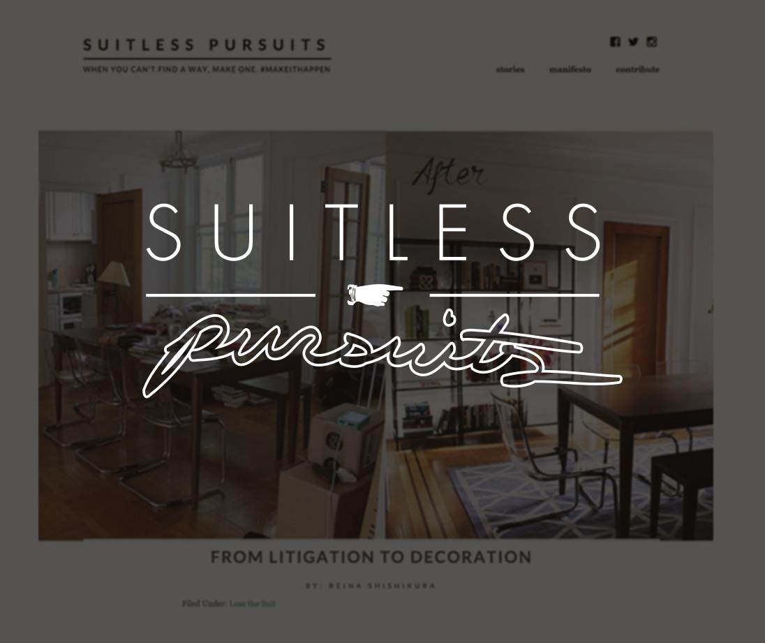 Suitless Pursuits,April 2015   From Litigation to Decoration