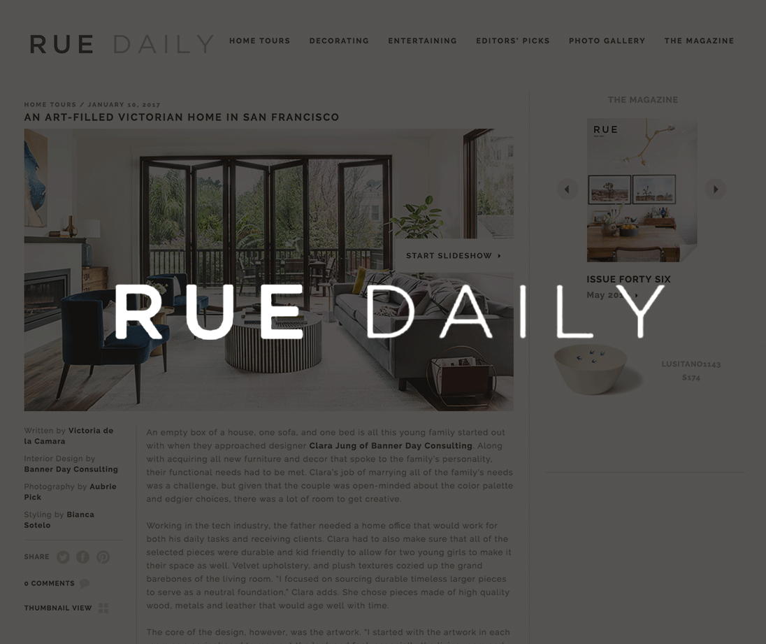 Rue, January 2017   An Art-Filled Victorian Home in San Francisco