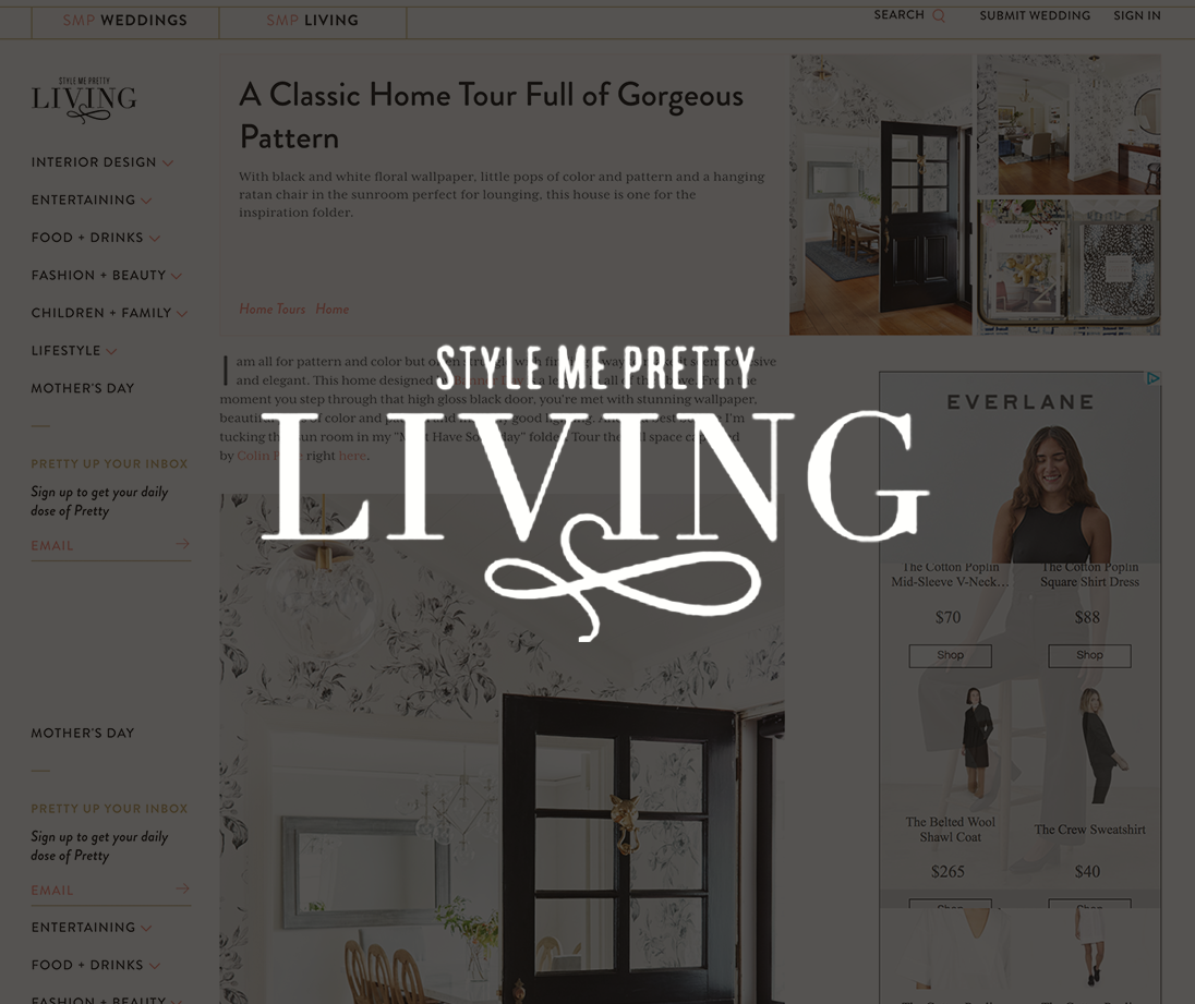 Style Me Pretty Living, February 2017   A Classic Home Tour Filled with Gorgeous Pattern
