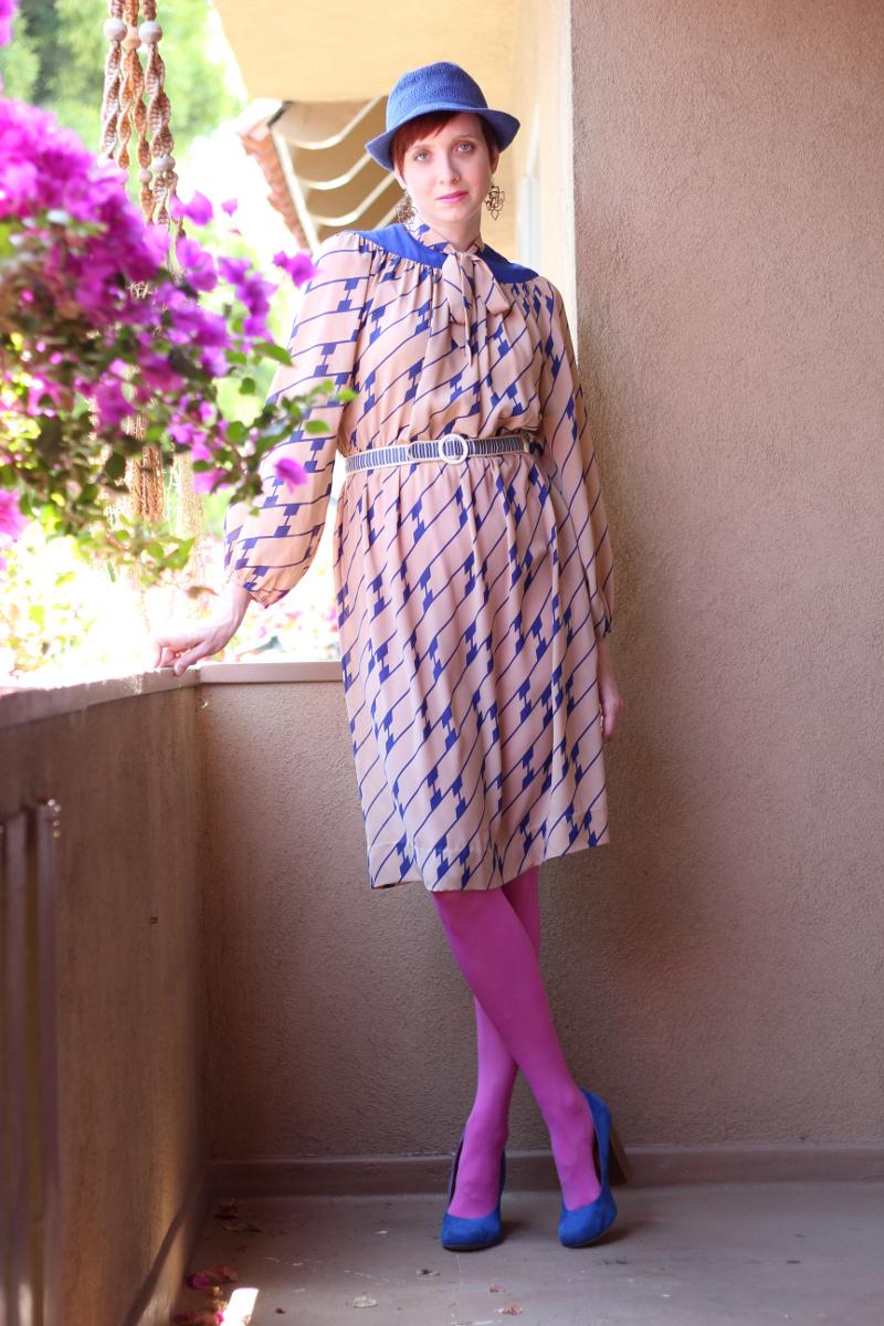 cobalt blue print secretary dress_2.jpg