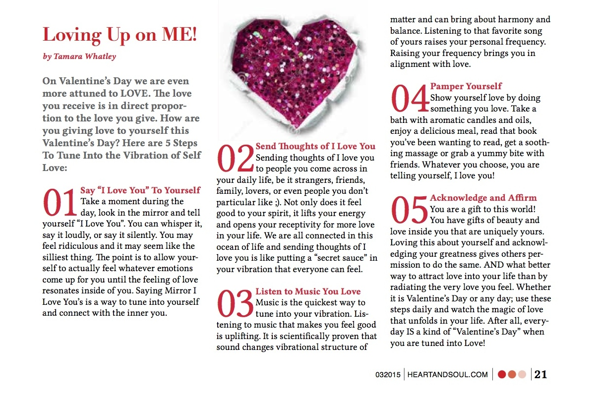 As Seen in Heart & Soul Magazine