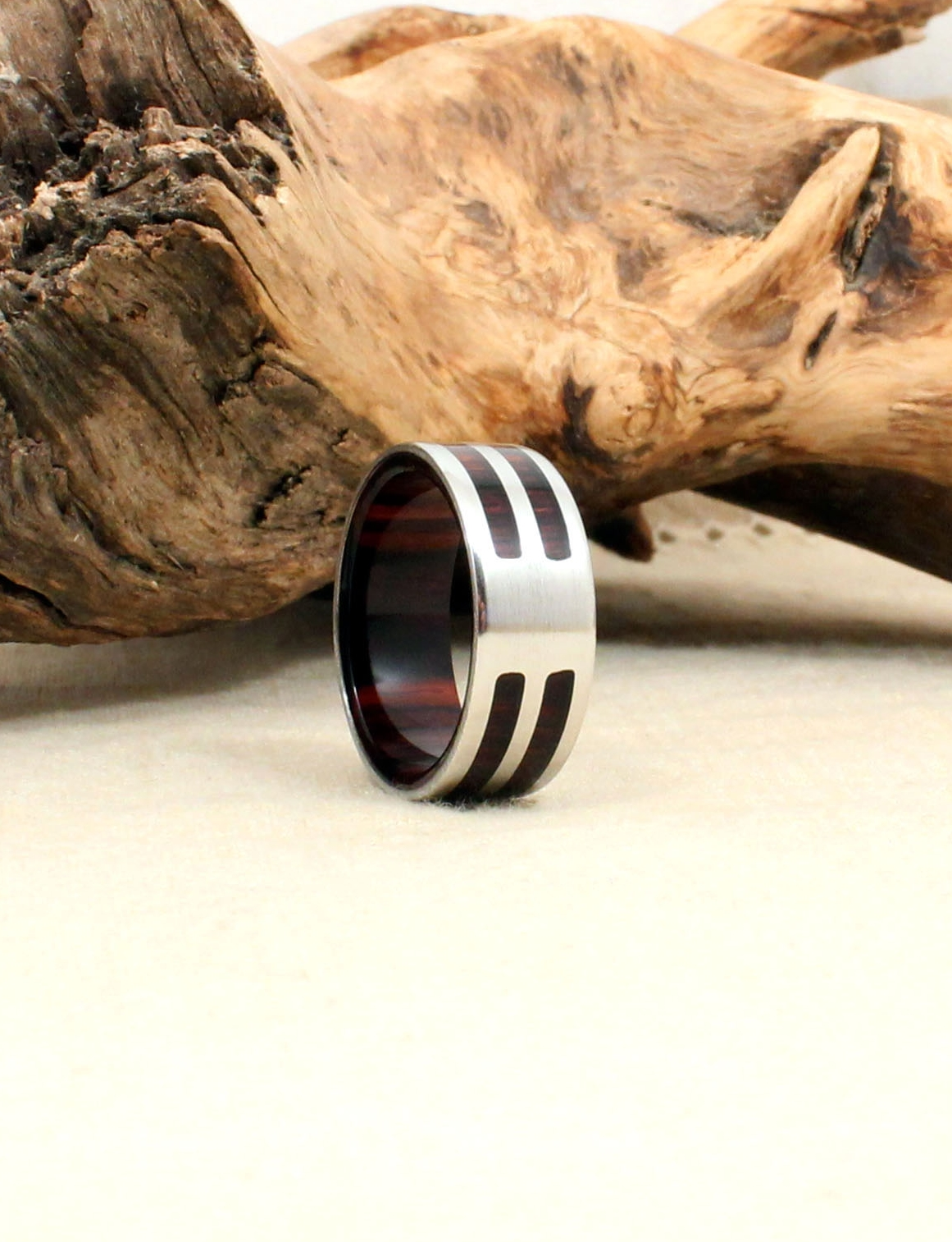 Cobalt and Kingwood Wooden Ring