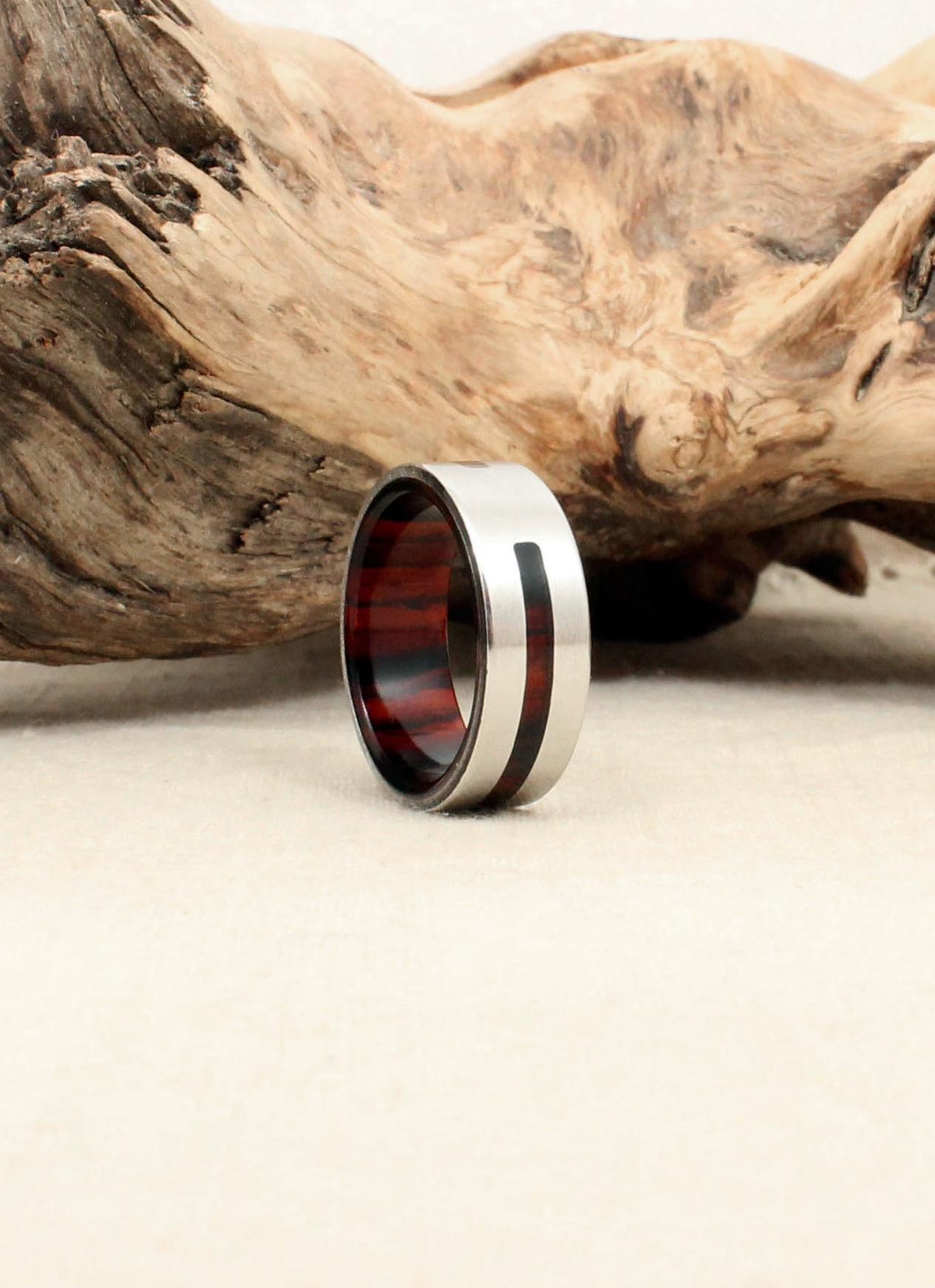Cocobolo and Cobalt Wooden Ring