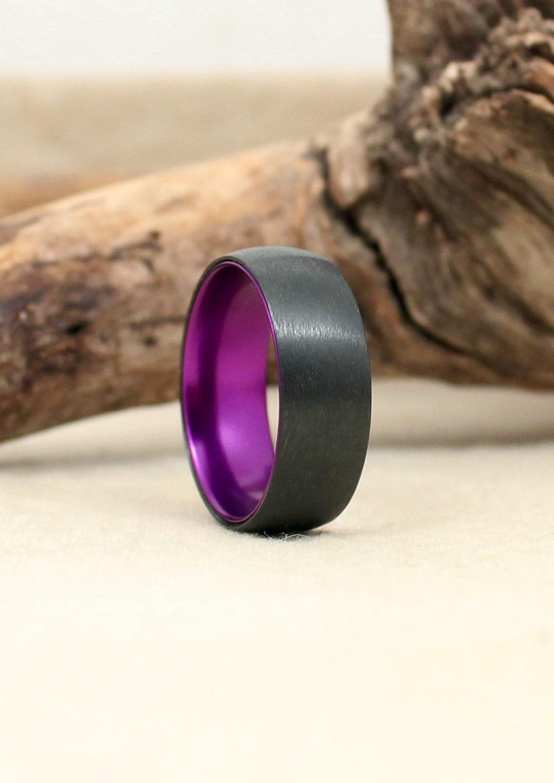 Black Zirconium with Anodized Purple Interior