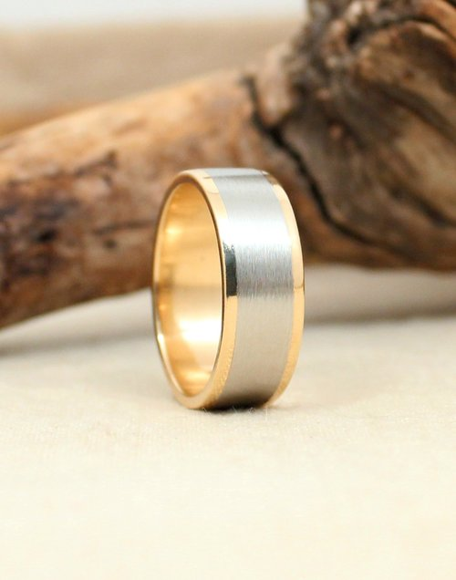 Yellow Gold and Cobalt Ring