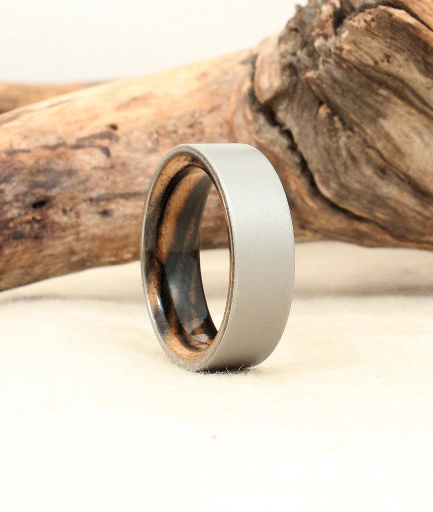 Black Ebony Titanium Ring