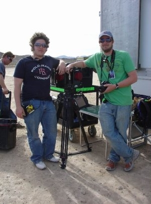 Me and coworker with our trusty HDRi camera on the set of G.I. JOE.