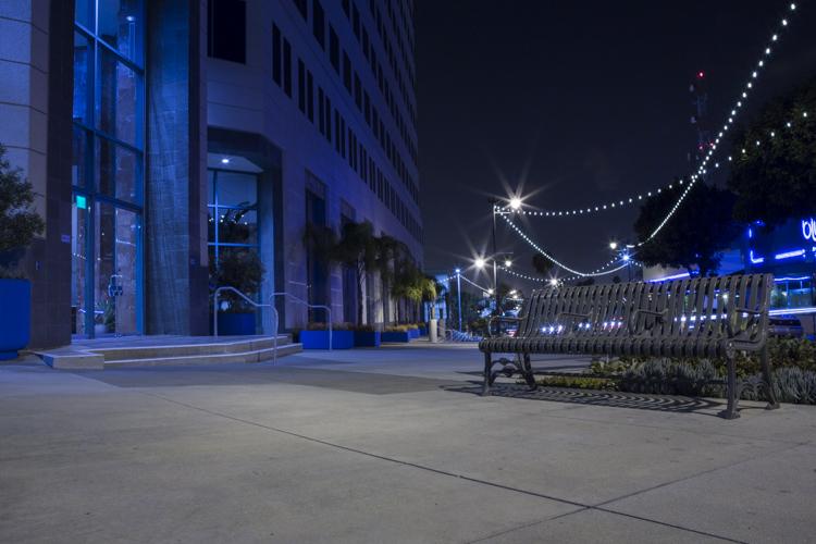 Downtown San Pedro, California.