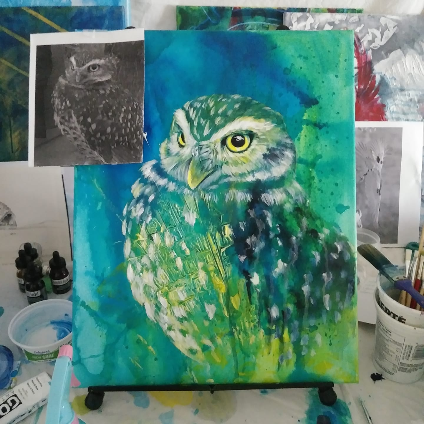 0981 Burrowing Owl WIP elisa friesen 2018.JPG