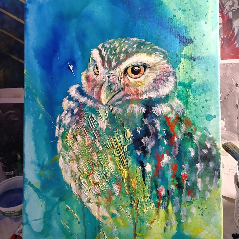 0982 Burrowing Owl WIP elisa friesen 2018.JPG