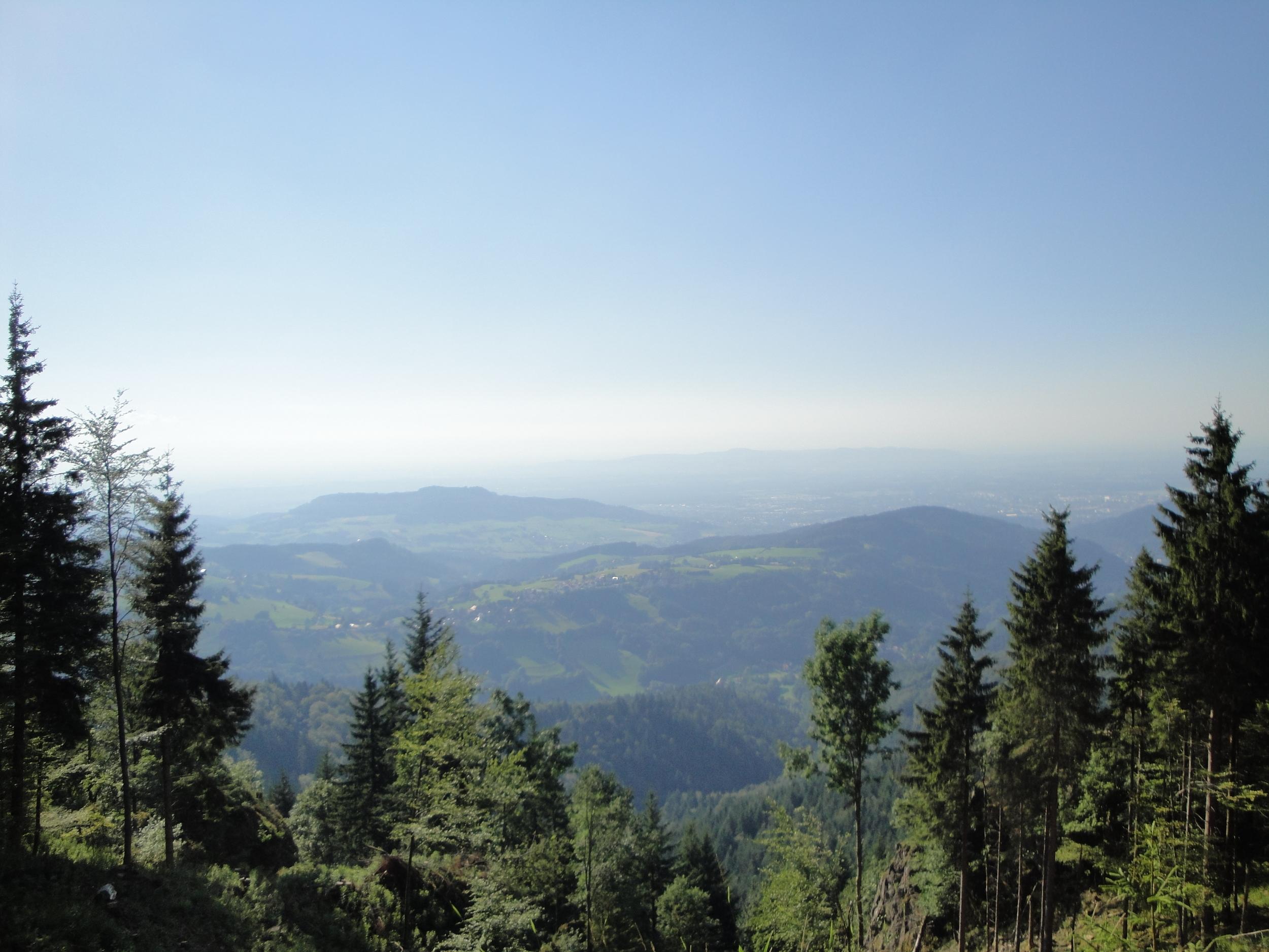 Freiburg mountain view.