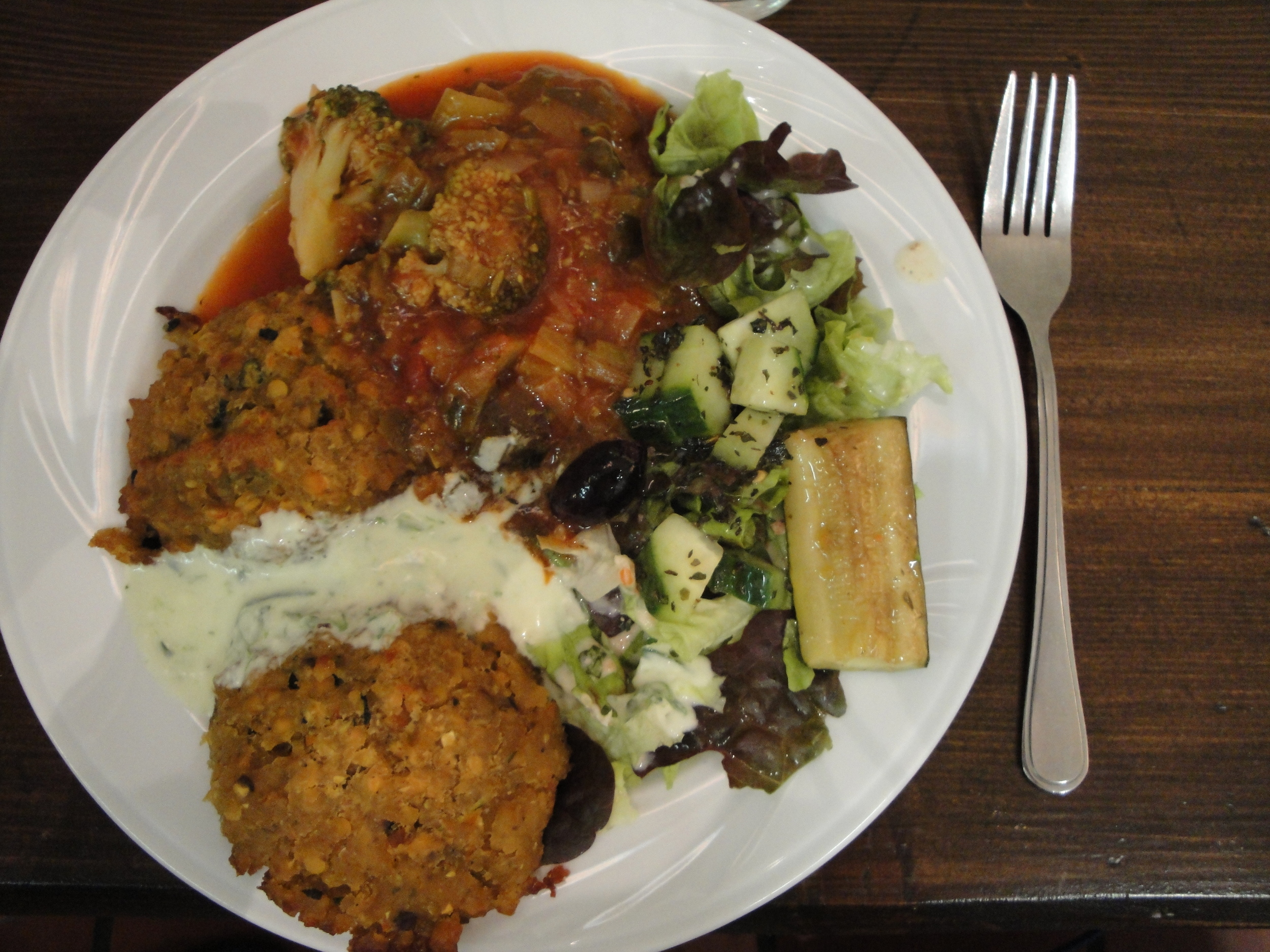 100% organic veg/ vegan lunch.
