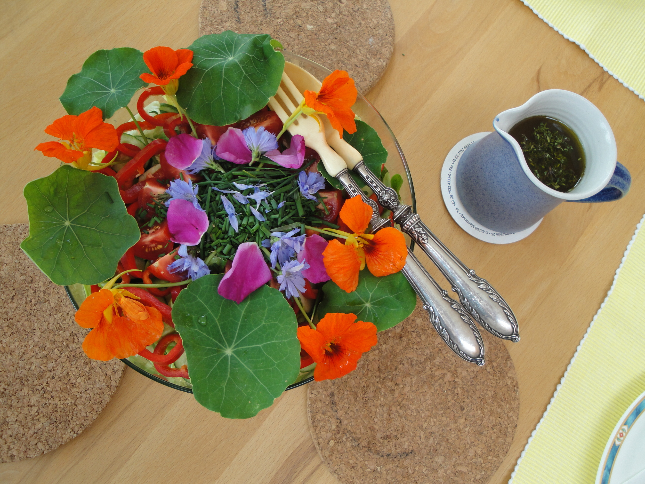 Garden salad from Sakinas garden!