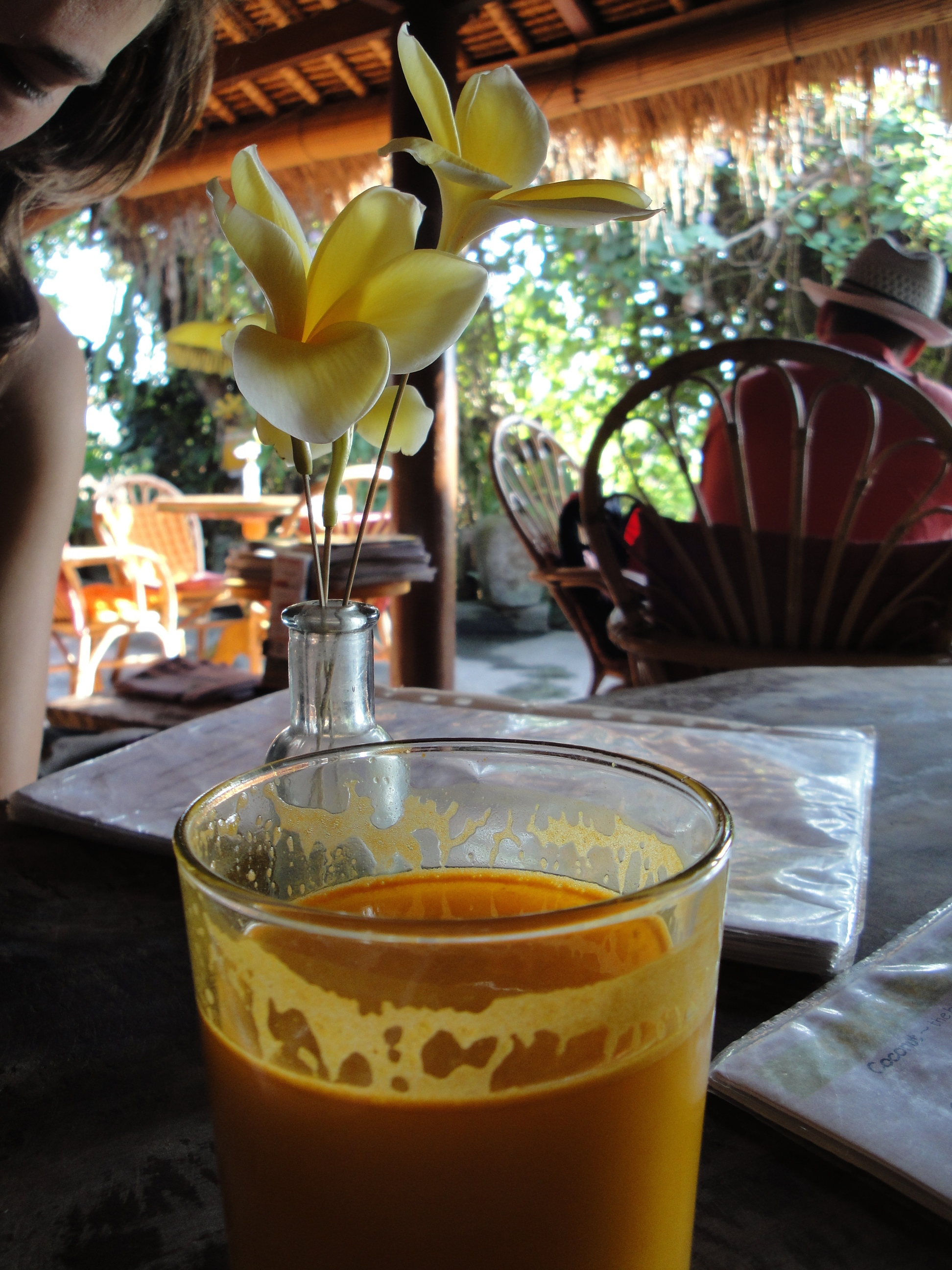 Turmeric Medicinal: Fresh turmeric, coconut water, lime. Bali appears to grow this stuff prolifically.