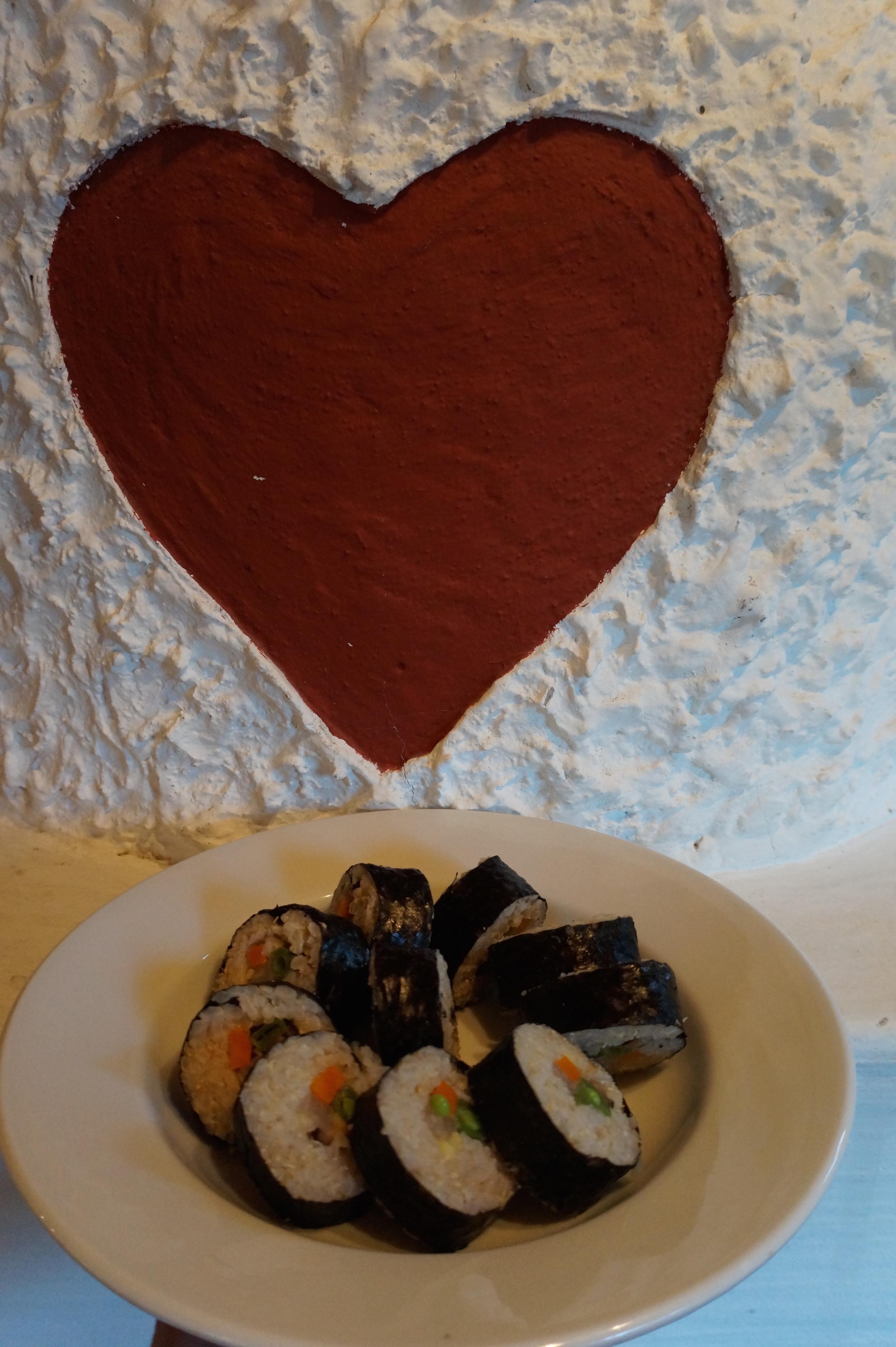 Gotta love vegan brown rice sushi in the land of Schnitzel