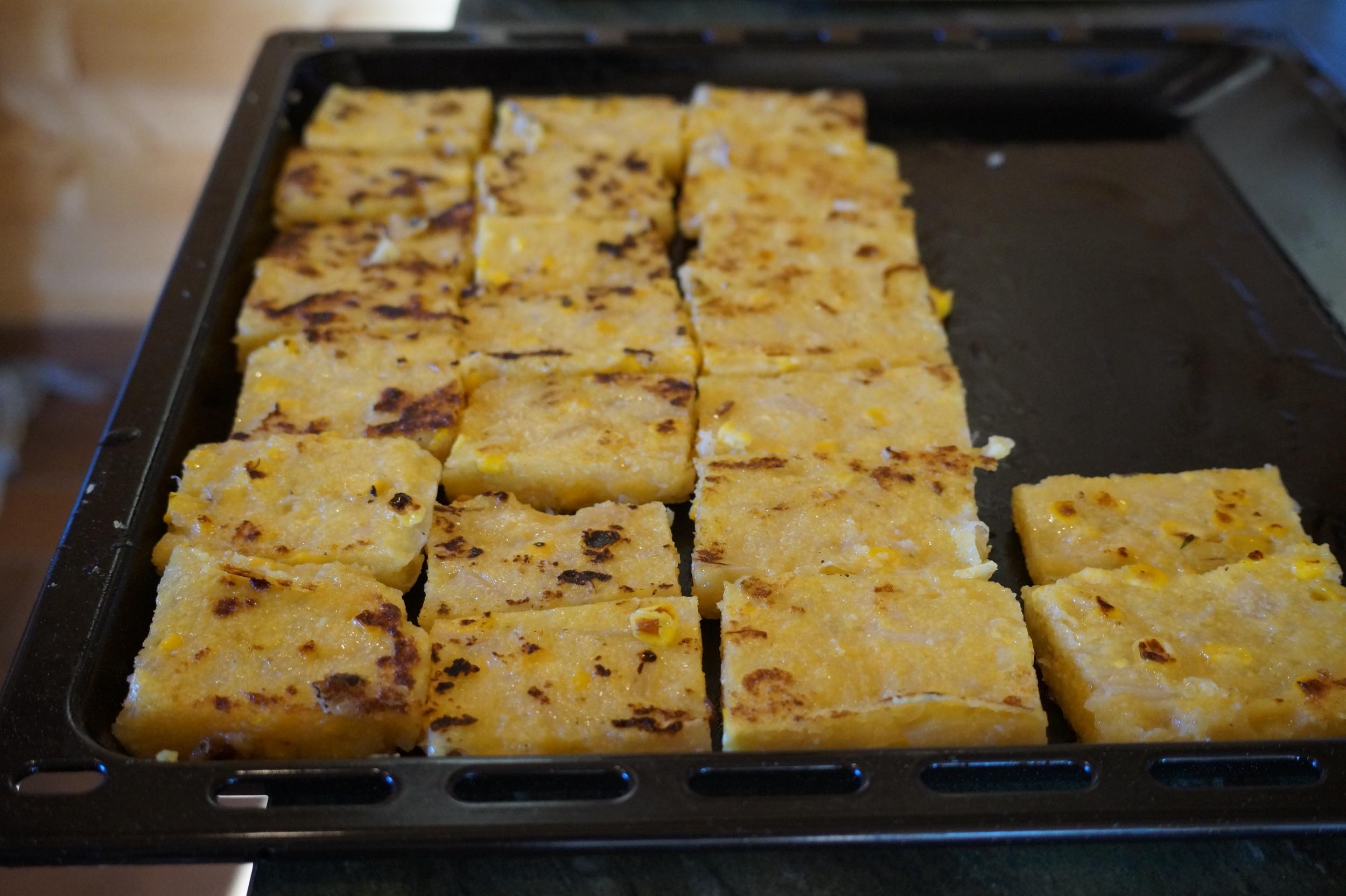 Polenta squares are divine