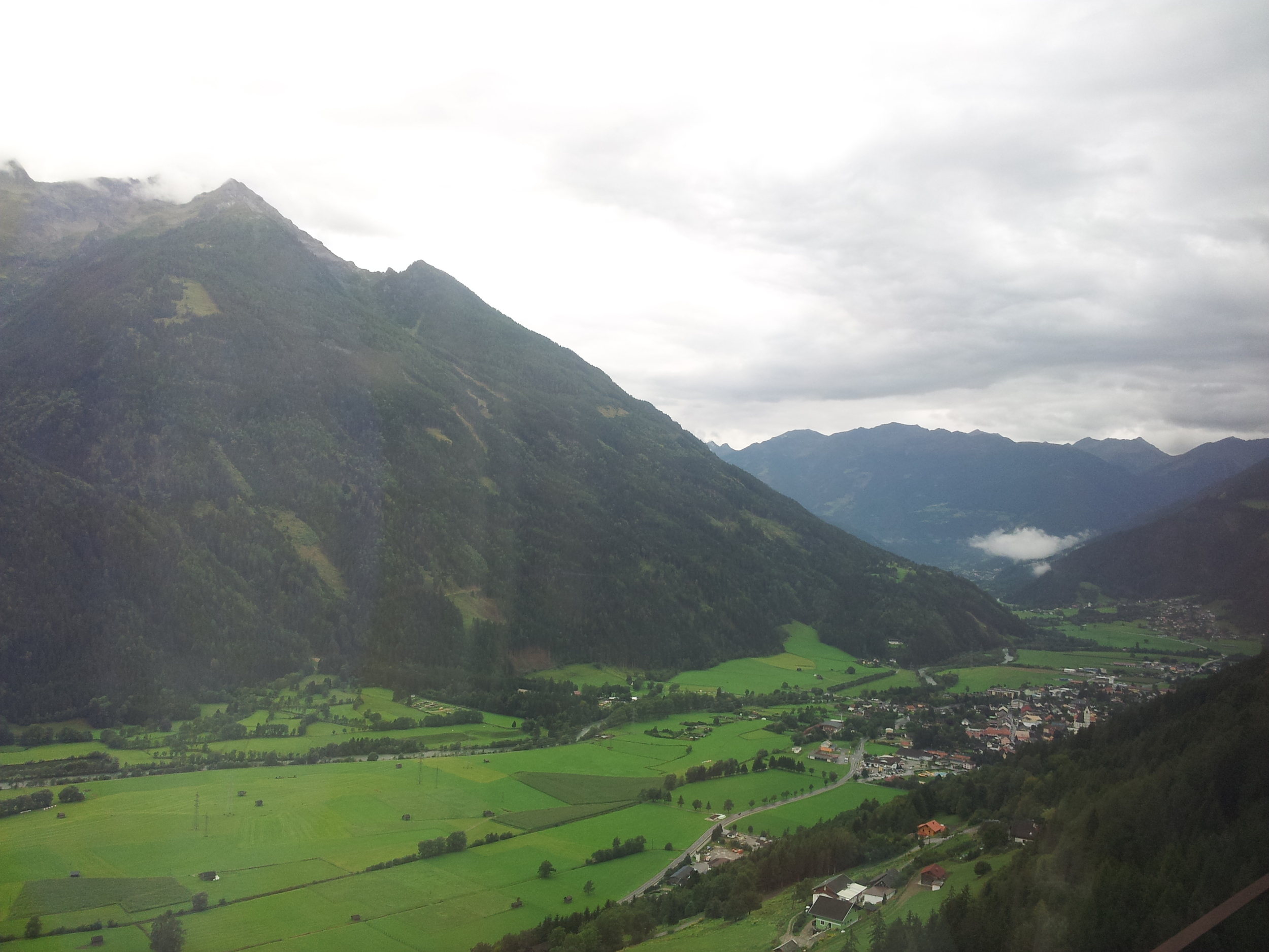 A 9 1/2 hour train ride from Freiburg in Germany to Millstatt in Austria. The last 2 hours through these mountainous landscapes