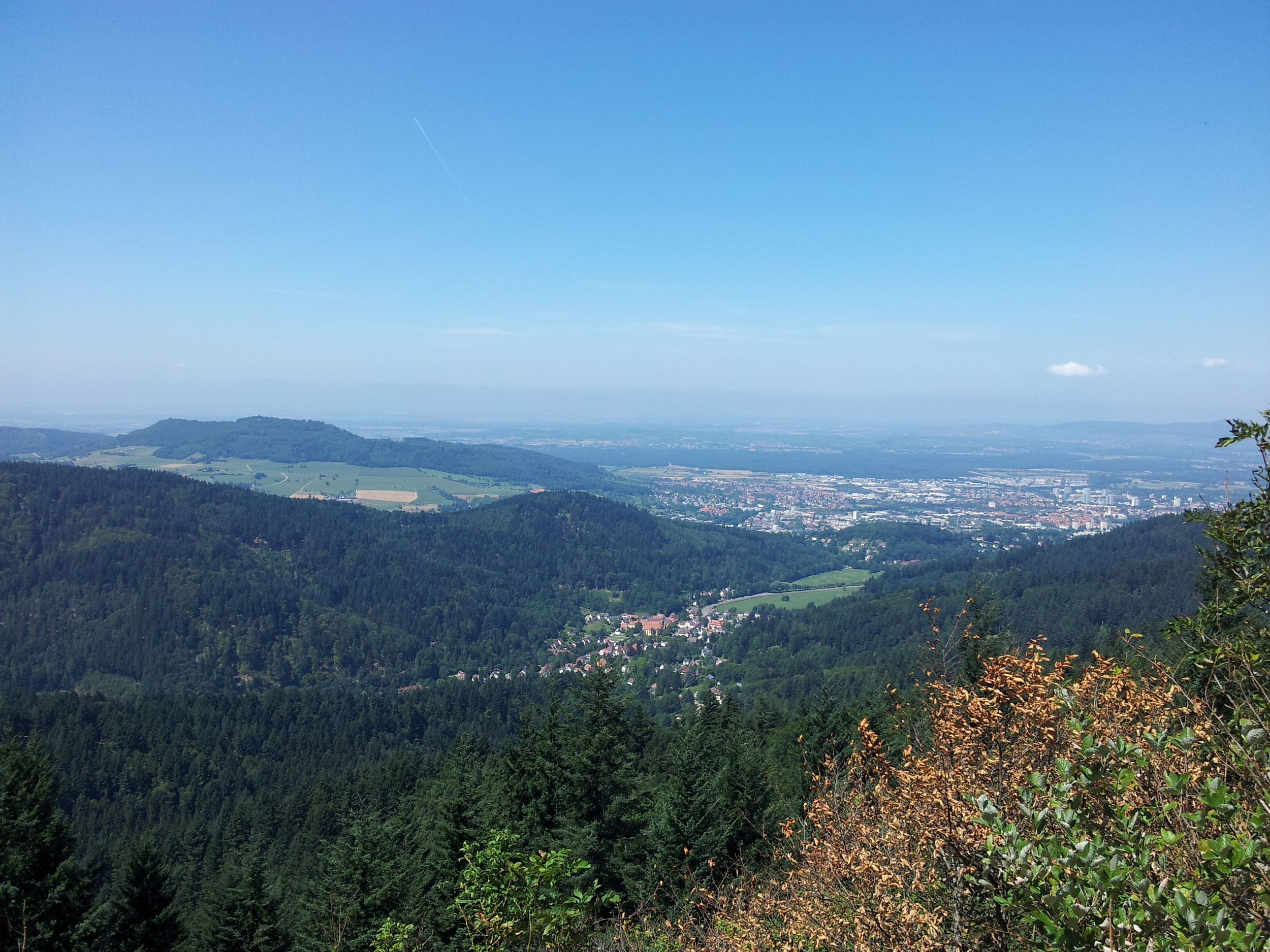 View from the top of the Kybfelsen near Freiburg