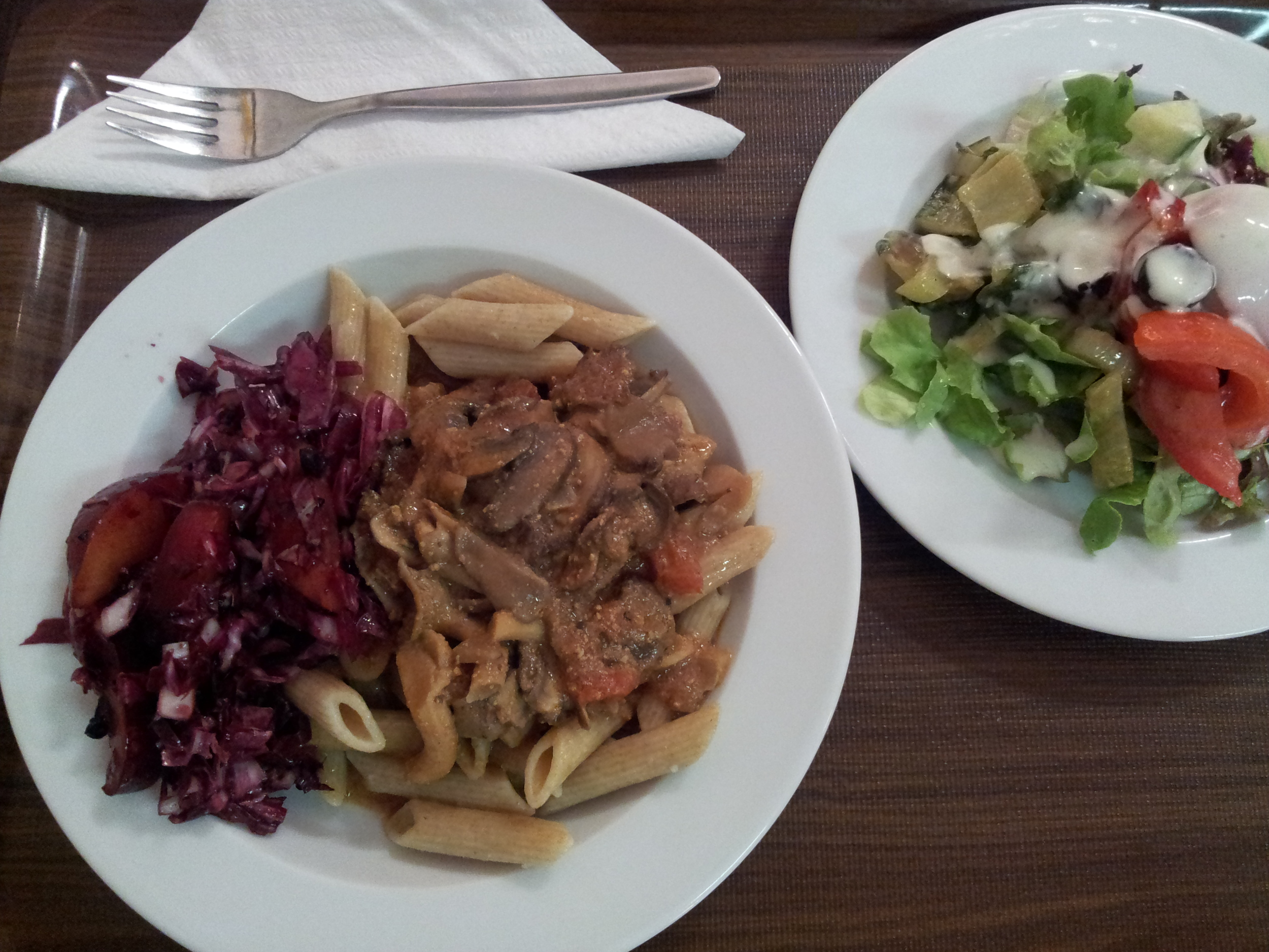 Another tasty and interesting lunch at the Biokeller- Bistro with Raddichio and Plums!