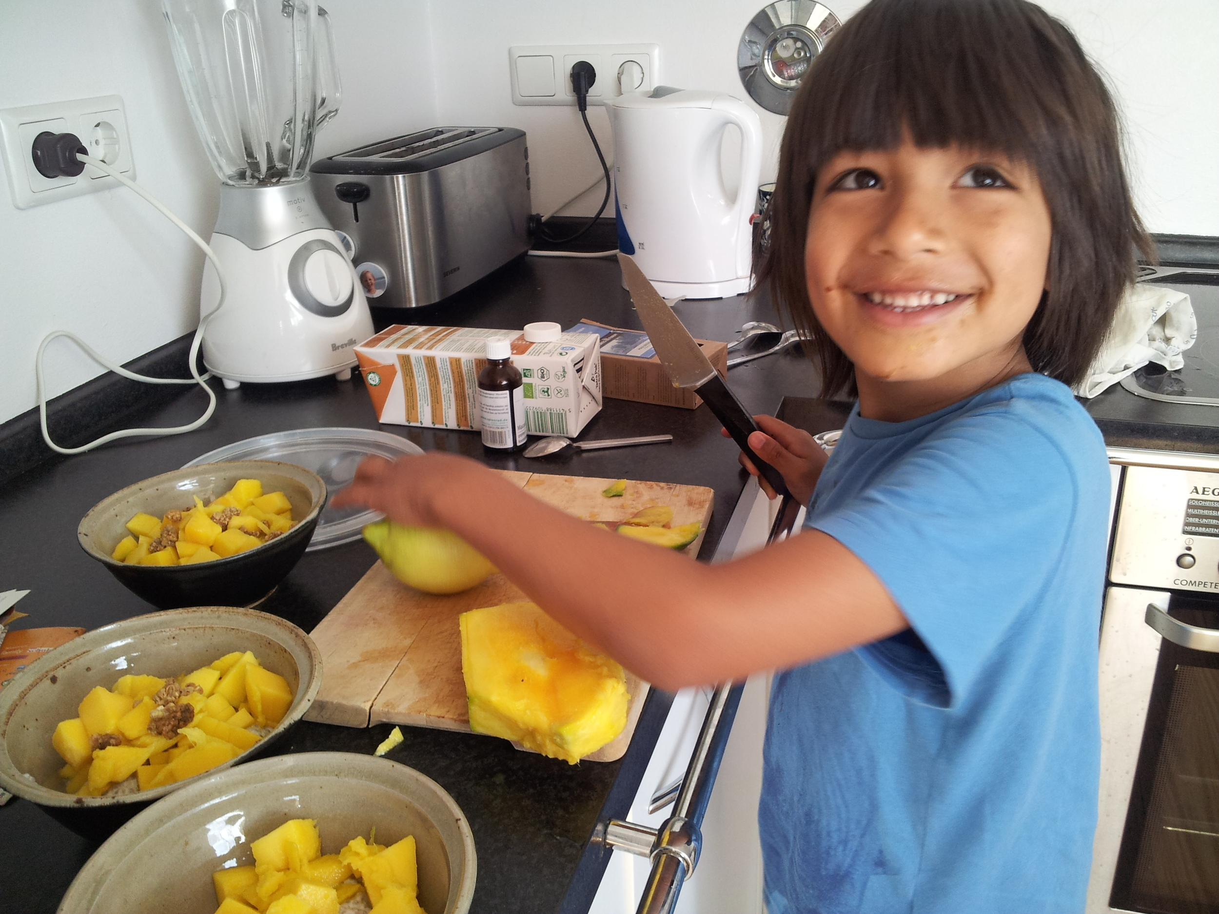 Aysha's son Luca is thee best kitchen buddy and all around the coolest kid in town