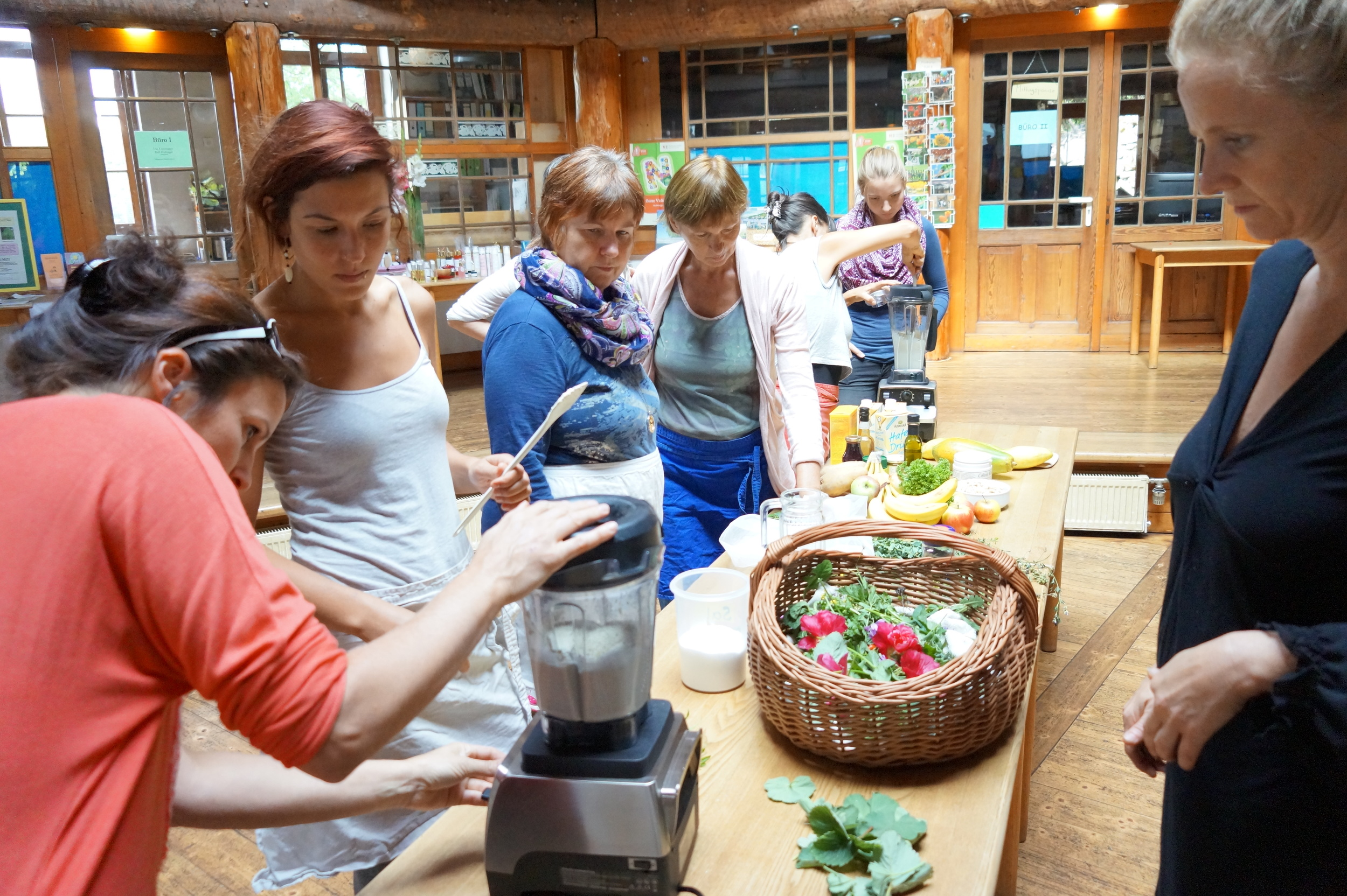 Making almond ricotta dip- heavenly!