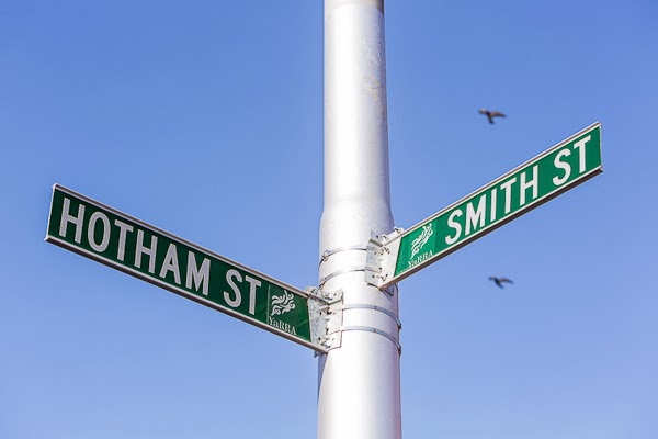 Sarah Anderson Photography Hotham Smith Street Signpost Collingwood