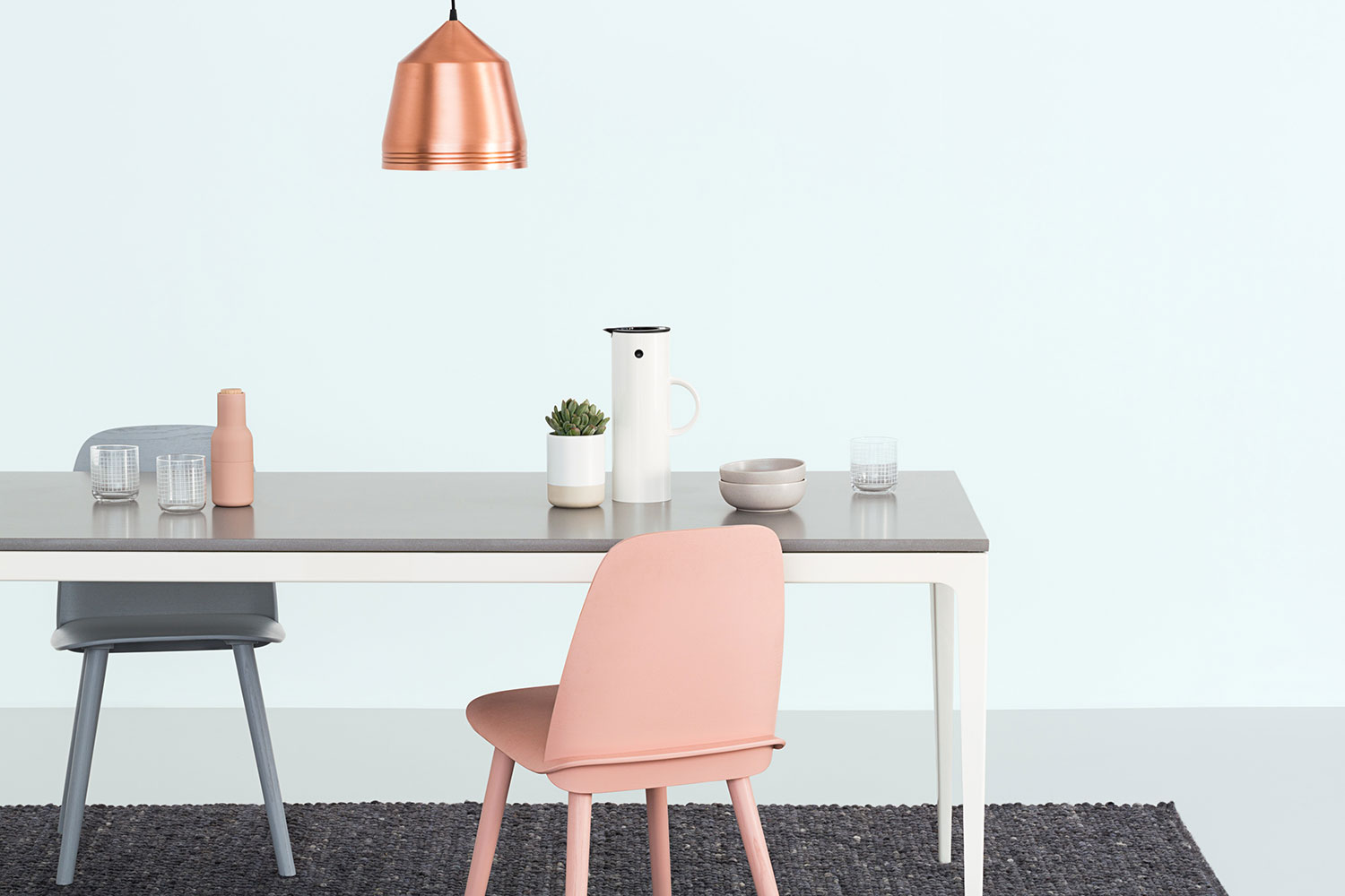 URBI Furniture dinig room table photograph by Sarah Anderson Photography