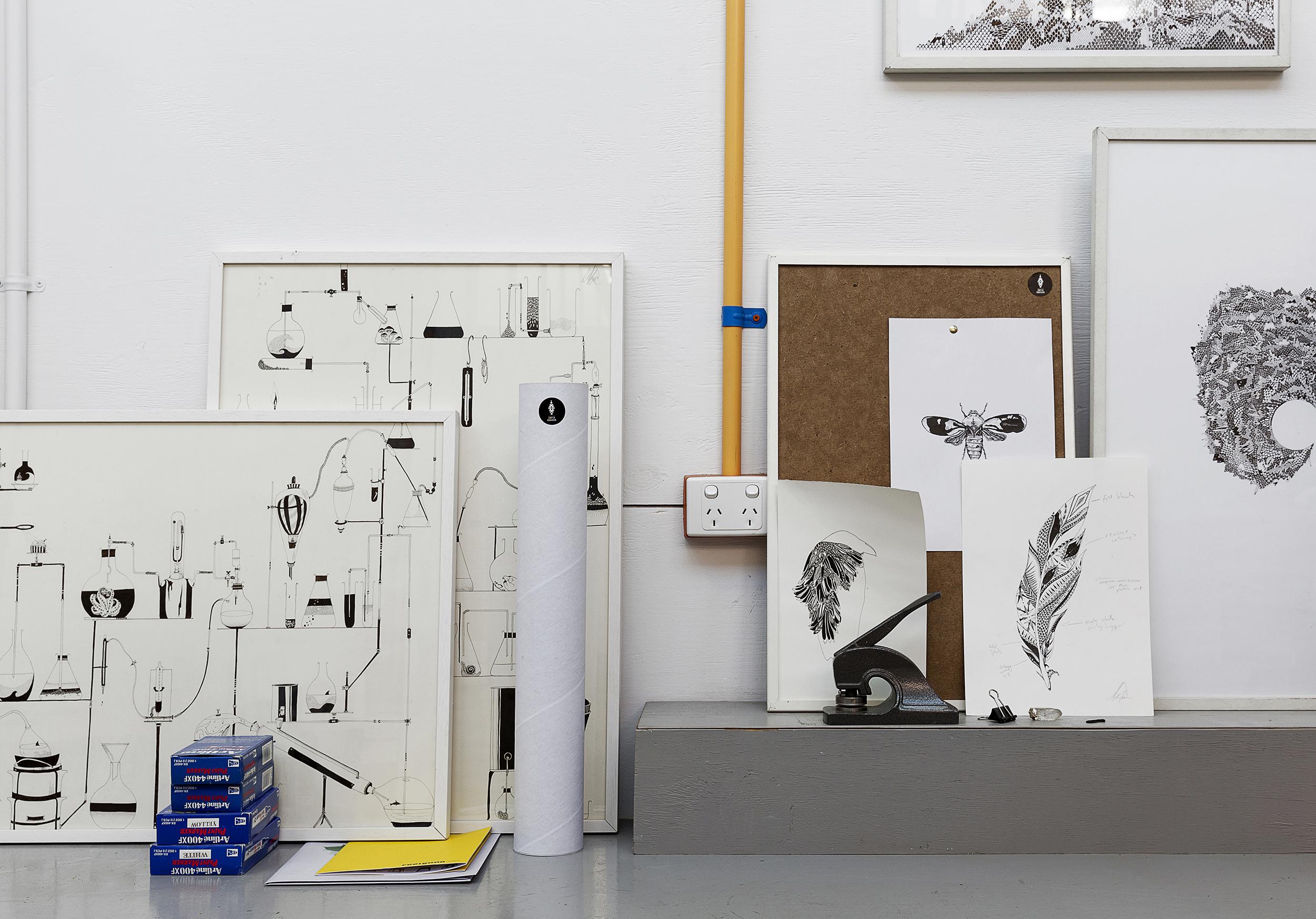 Artist  Chrysa Koukoura's studio.