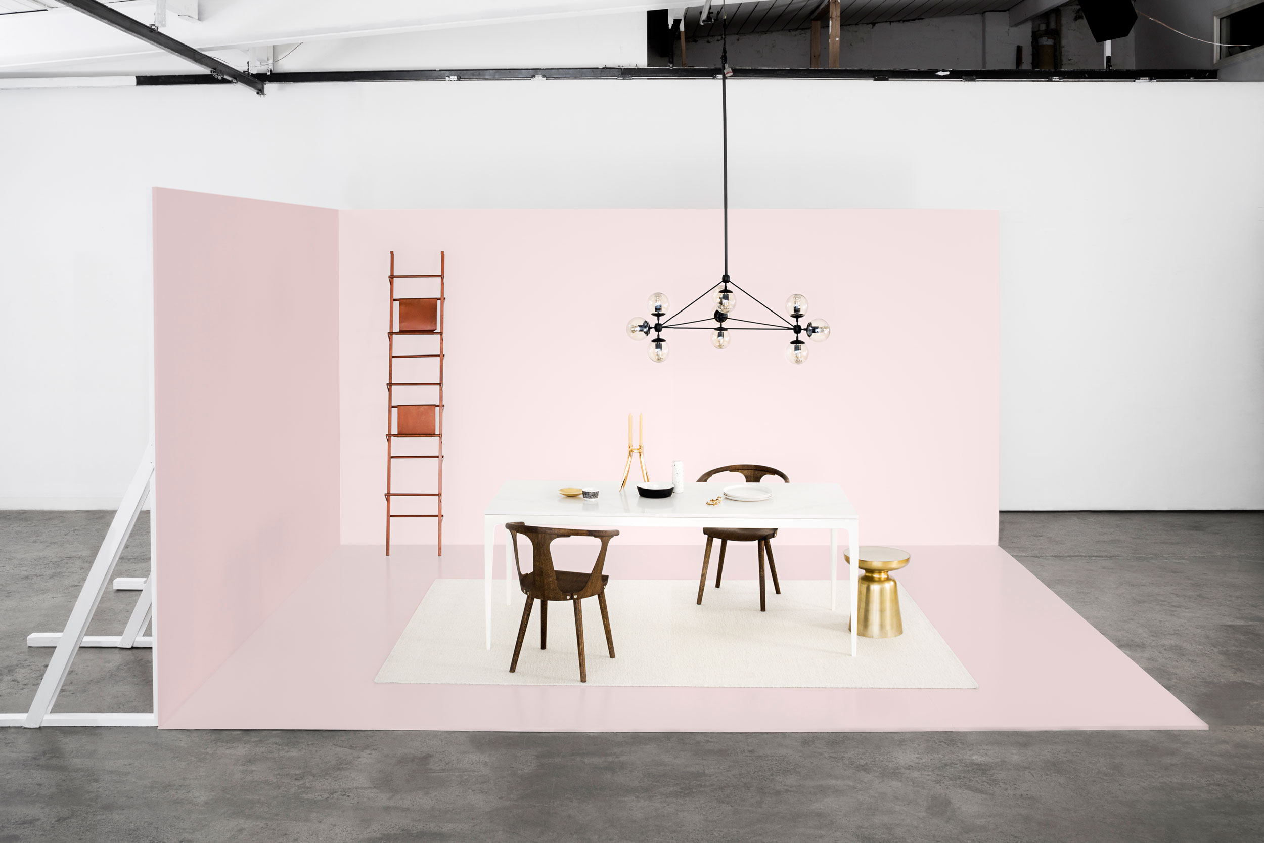 Urbi_table_stone_calcutta_cesarstone_pink_sarah_anderson_photography