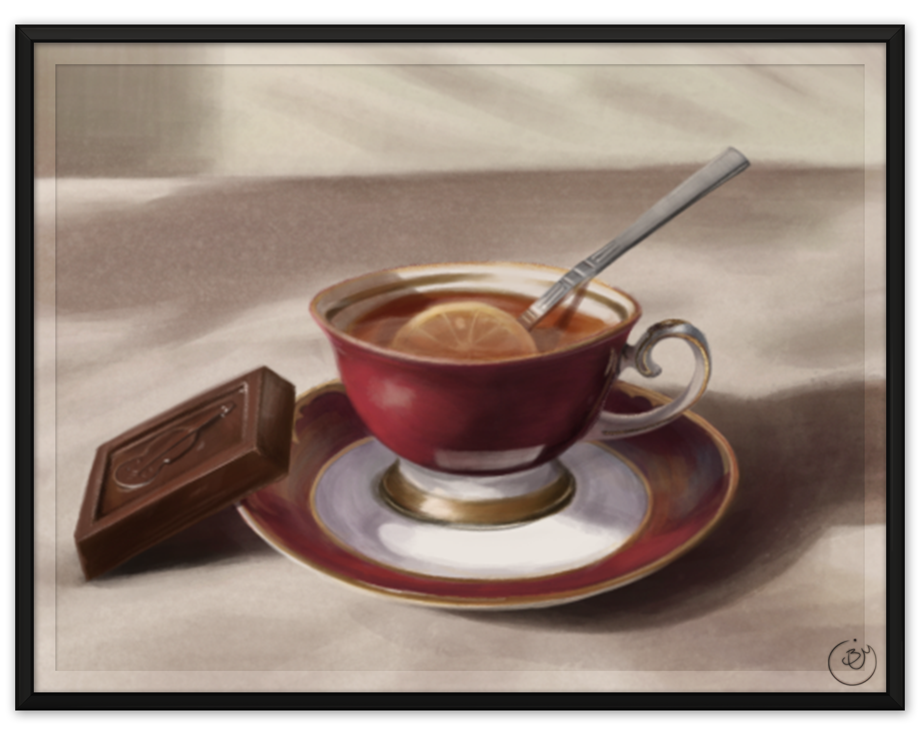Tea Set (Digital, from reference)