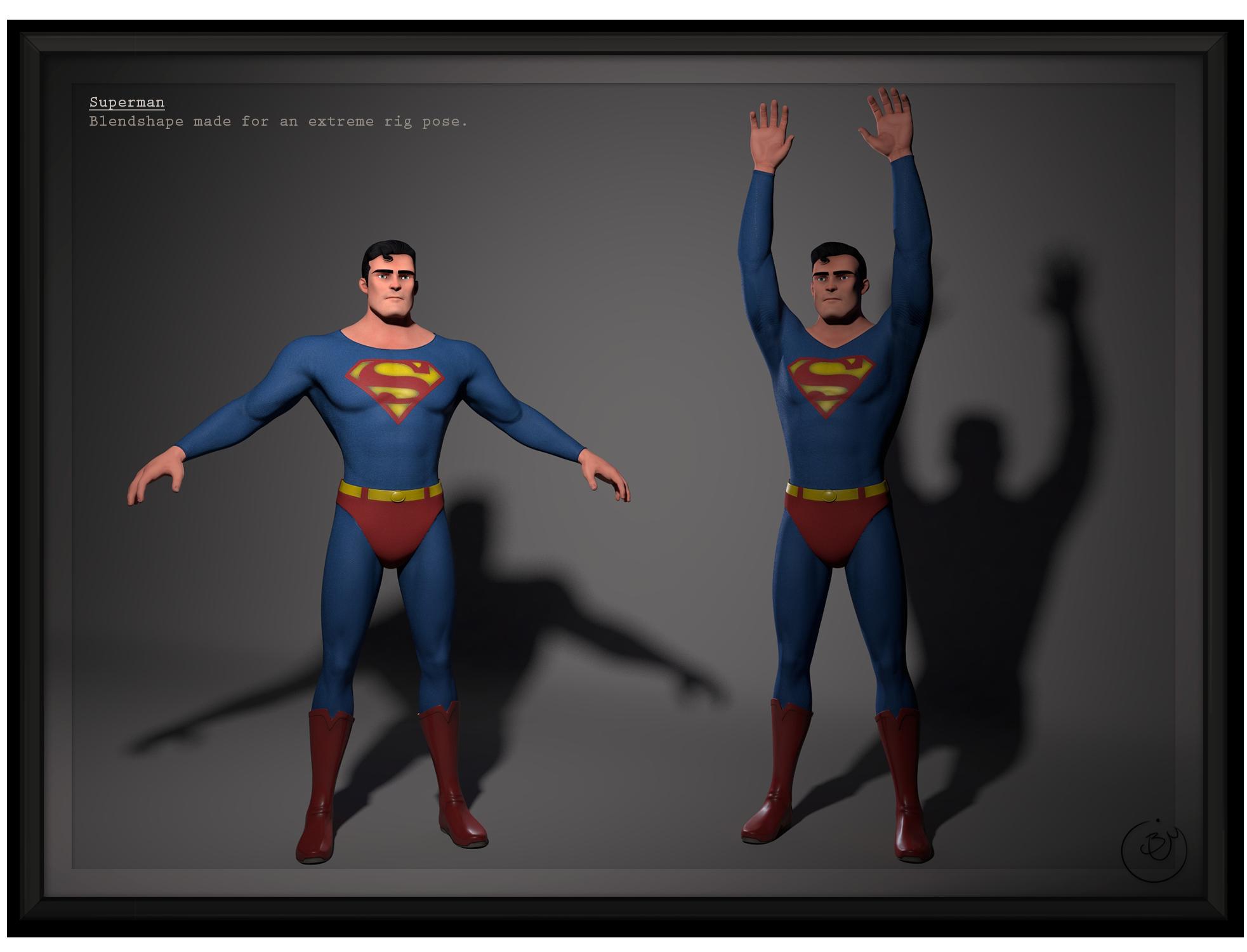 SM:Origins - Superman (Blendshape)