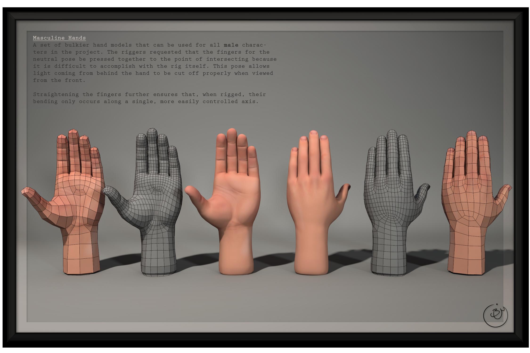 SM:Origins - Male Hands
