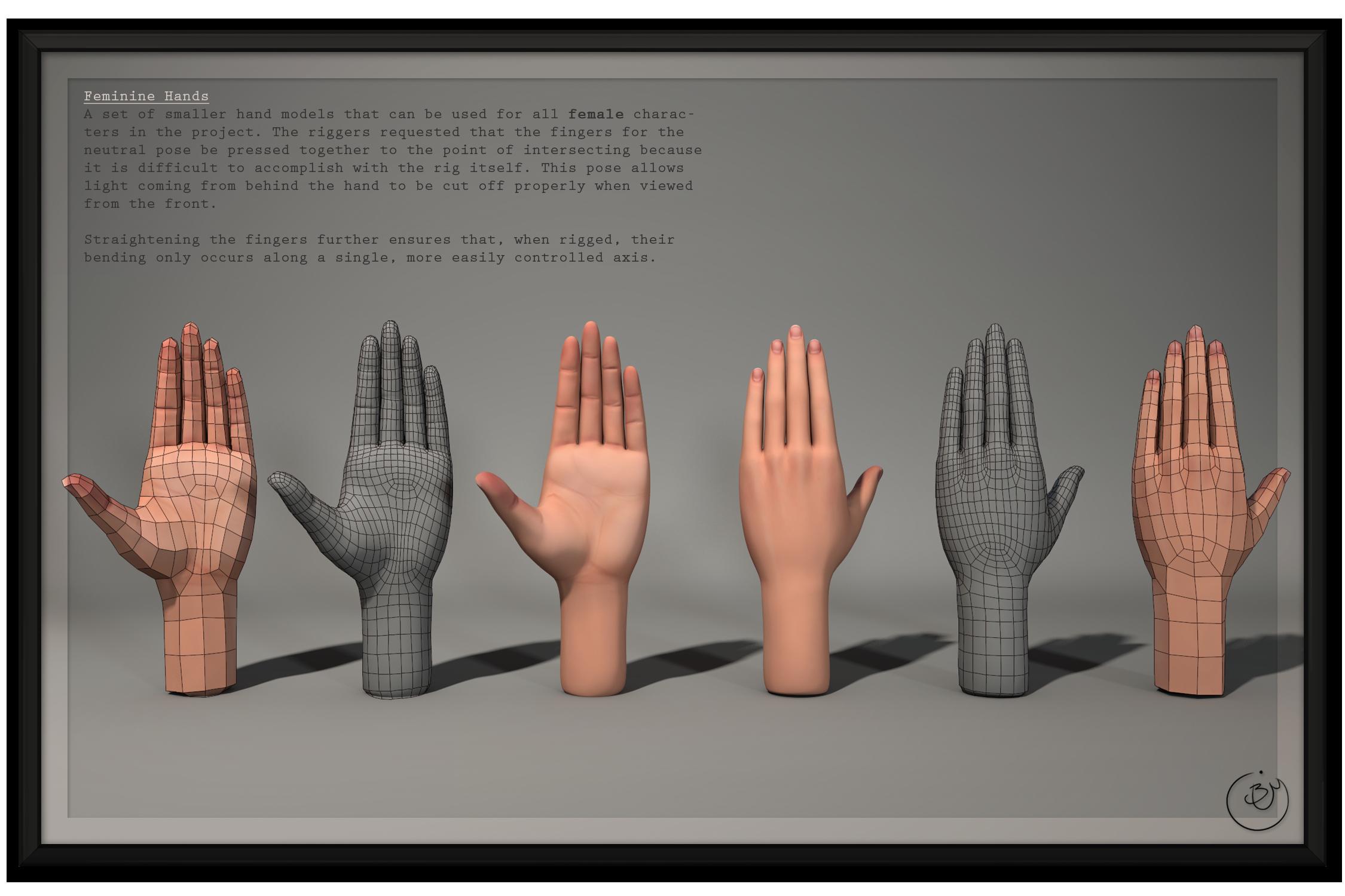 SM:Origins - Female Hands