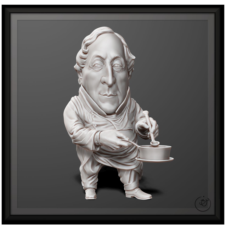 Gioachino Rossini Caricature (From Concept)