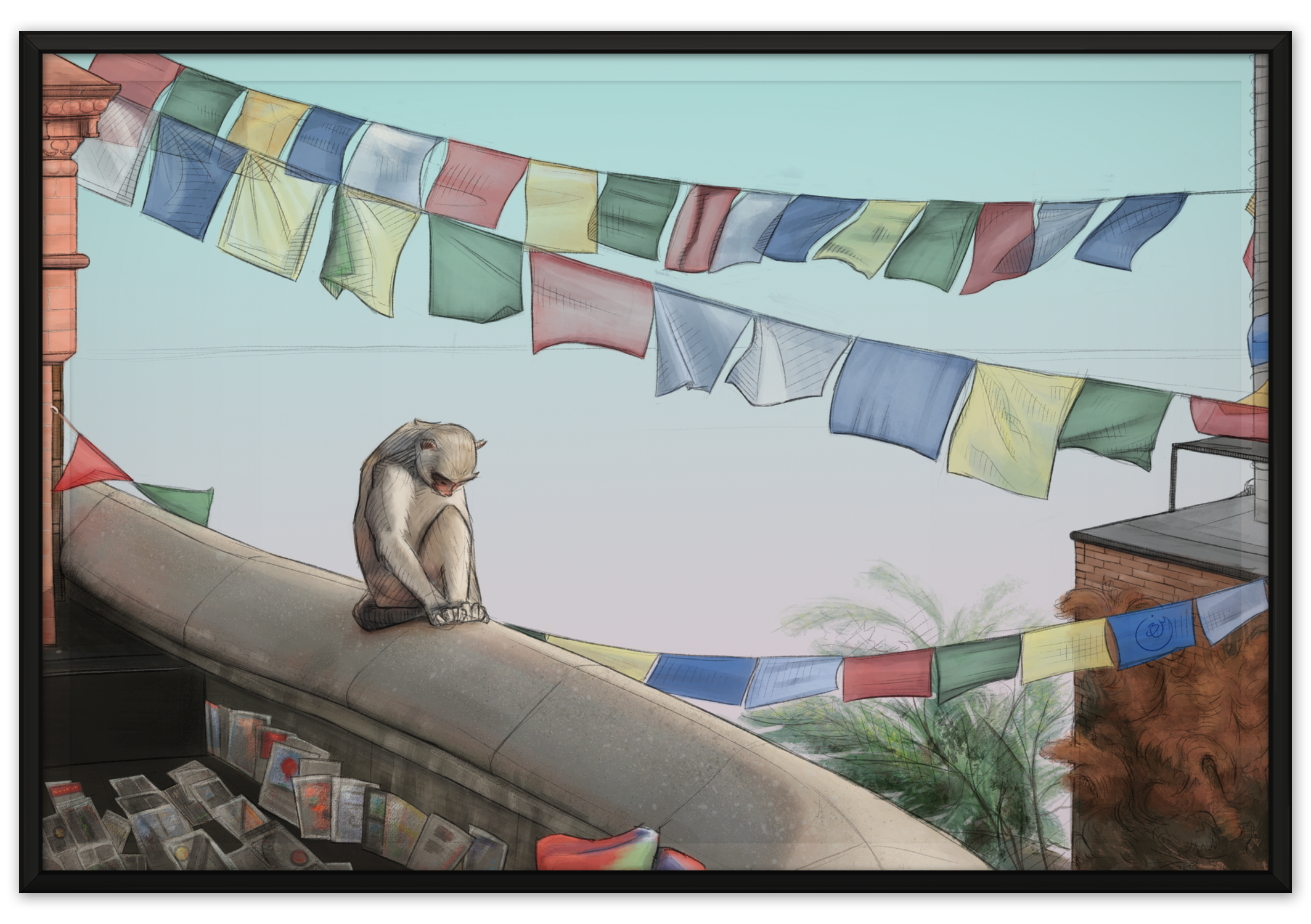Prayer Flags (Digital, from reference)